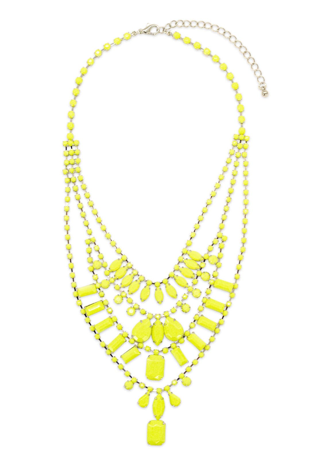 Neon Yellow Lights Necklace by Adia Kibur