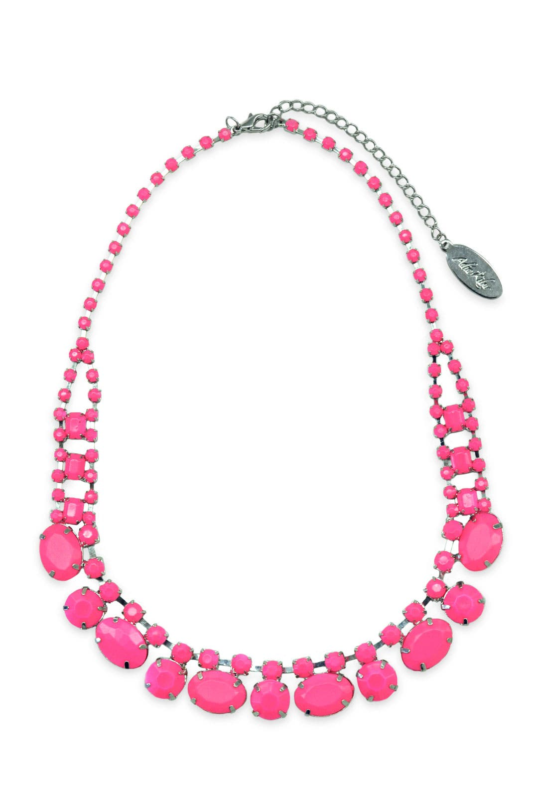 Pink Stone Blaze Necklace by Adia Kibur