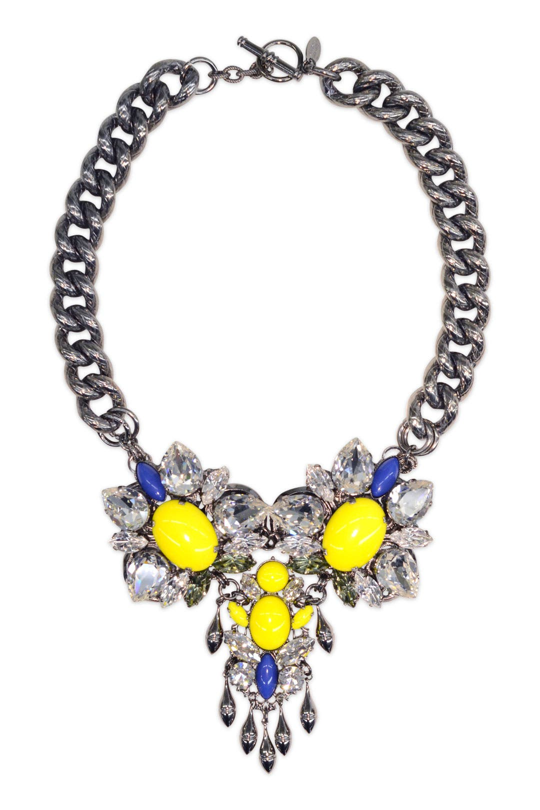 Colorblocked Crystal Necklace by Anton Heunis