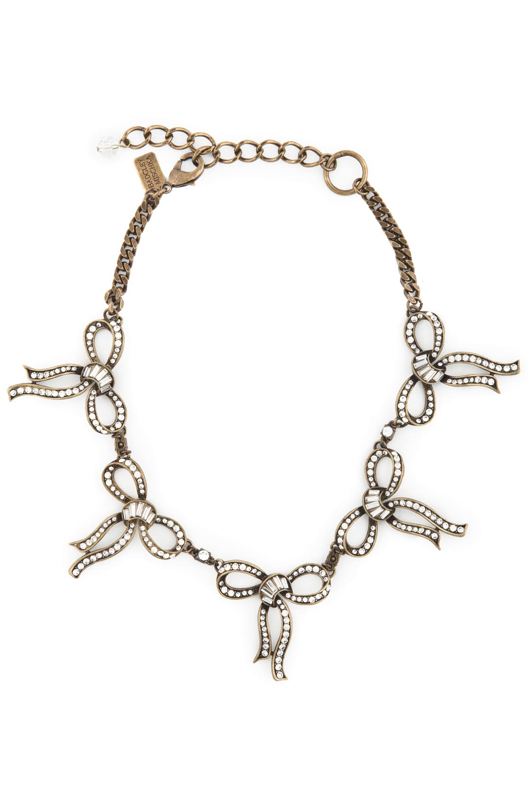 A Shimmer of Bows Necklace by Badgley Mischka Jewelry