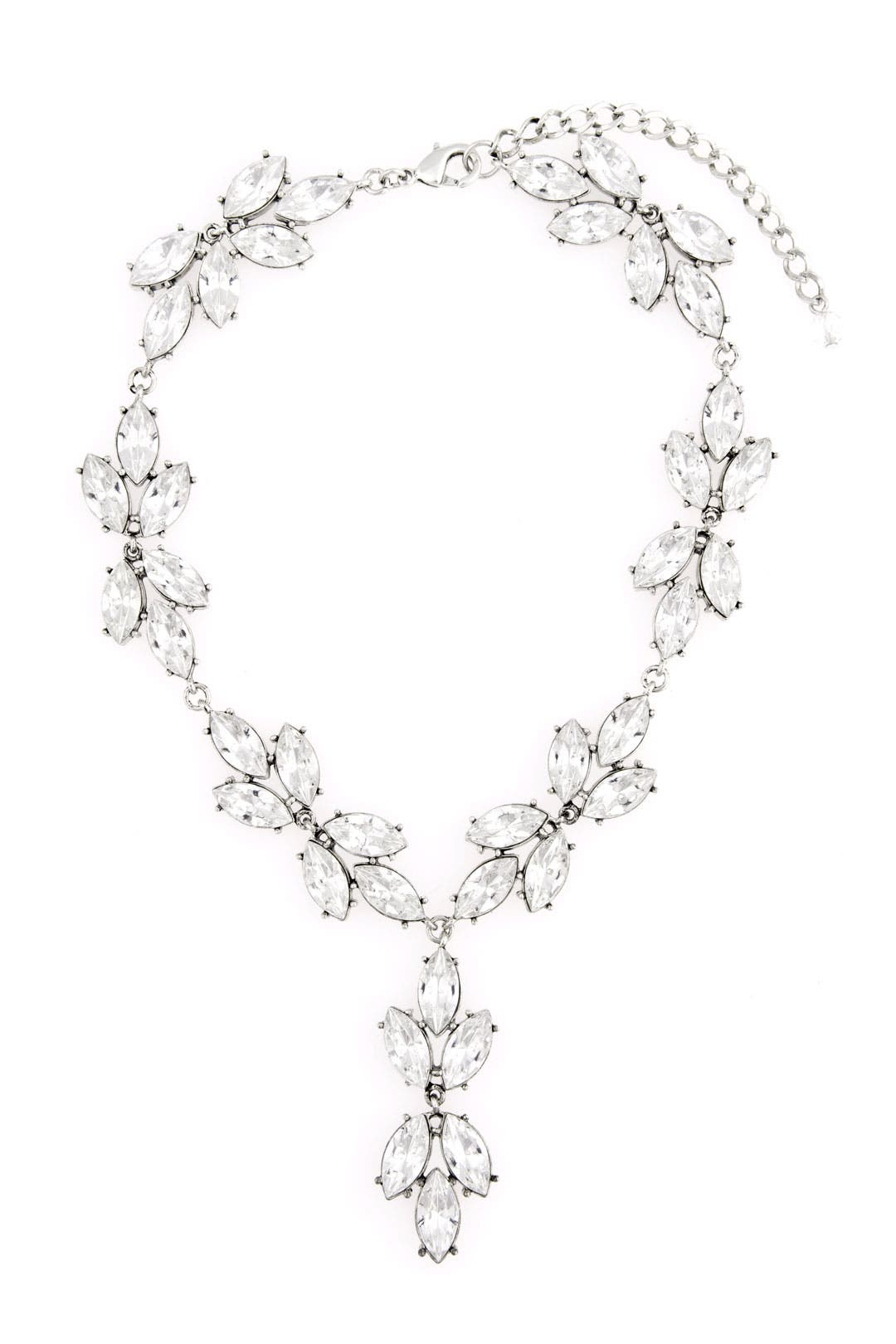 Crystal Rose Vines Necklace by Badgley Mischka Jewelry