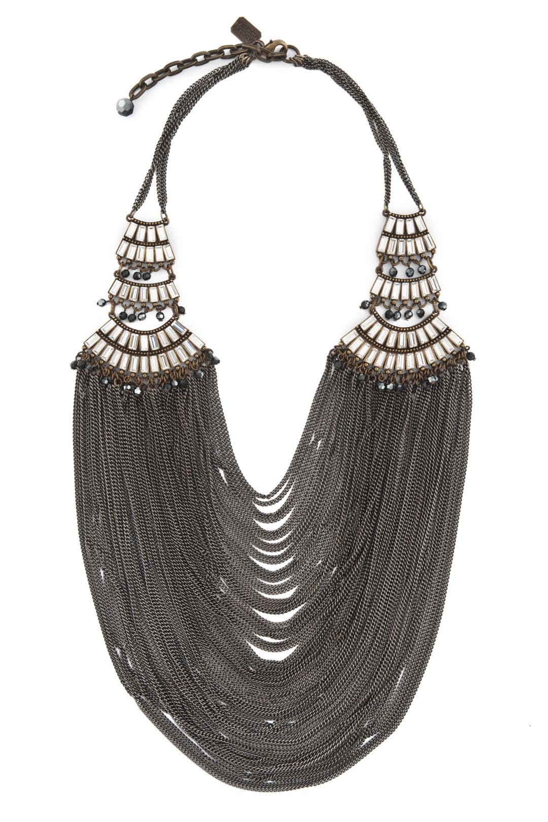 Modern Deco Chain Bib by Badgley Mischka Jewelry