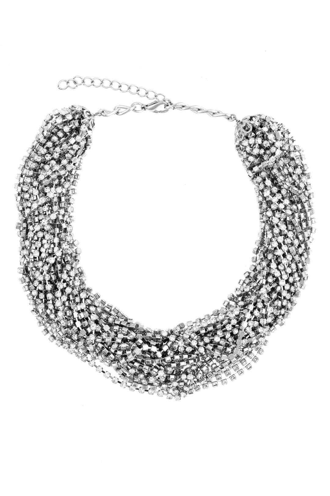 Chain and Crystal Necklace by Cara Accessories
