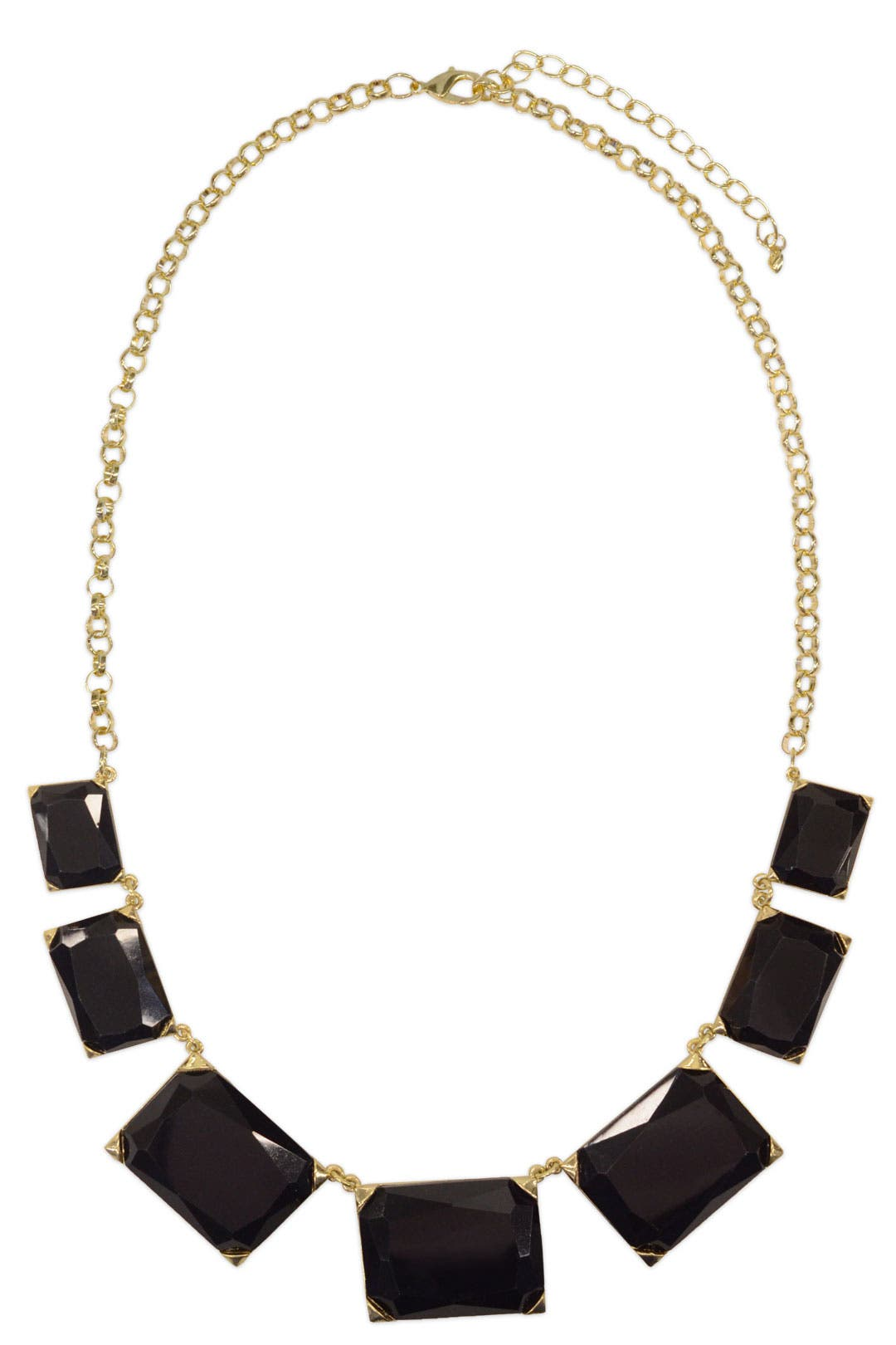 Black Squares Collar by Cinder & Charm