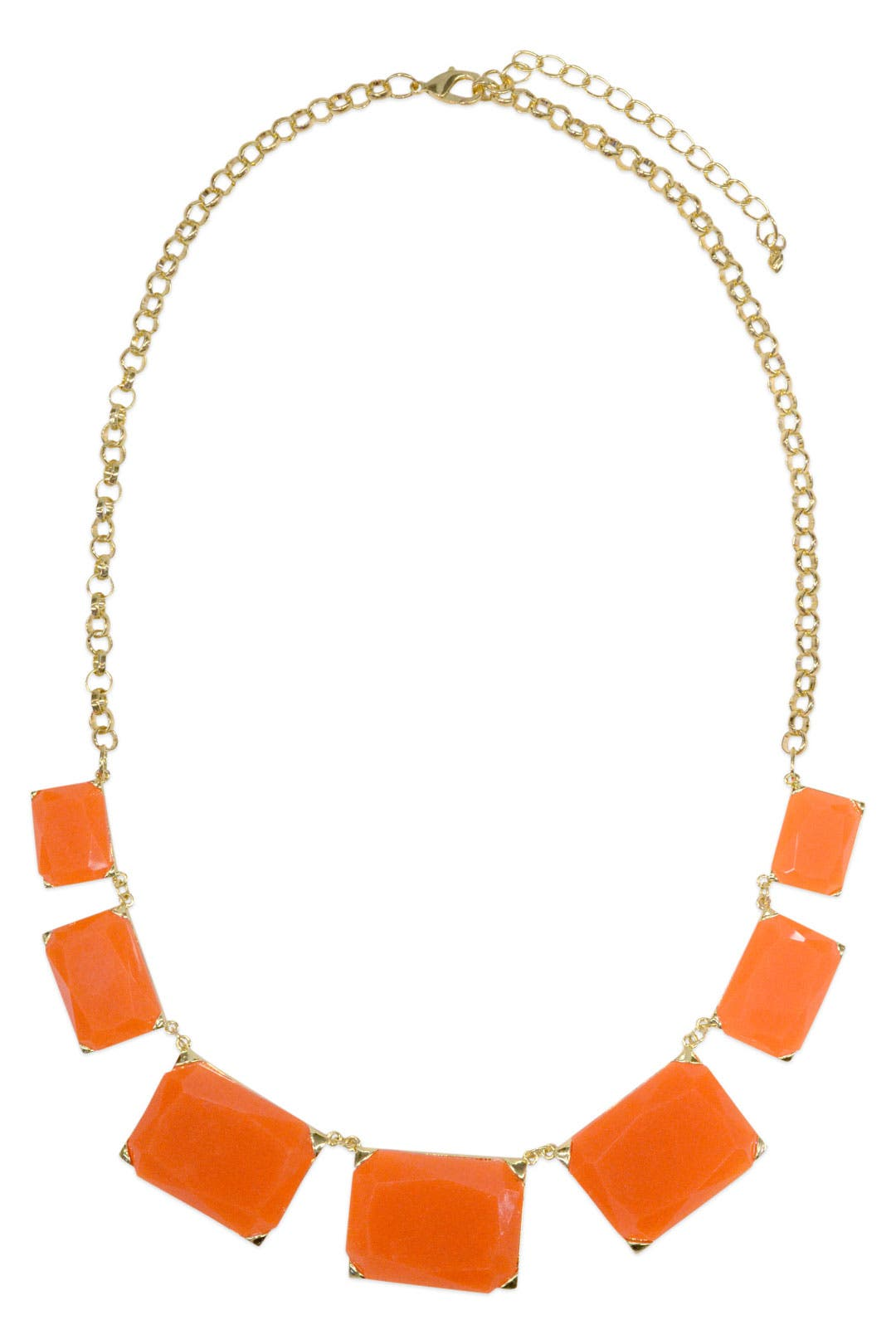 Orange Squares Collar by Cinder & Charm