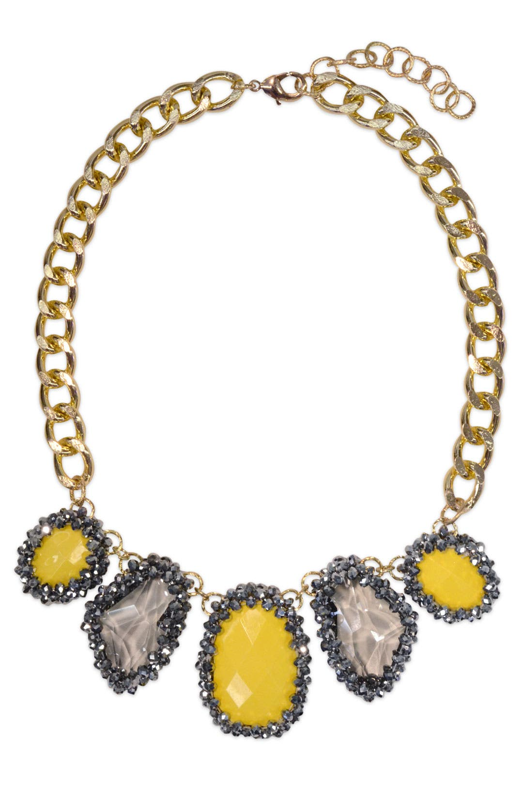 Yellow Glitz Collar by Cinder & Charm