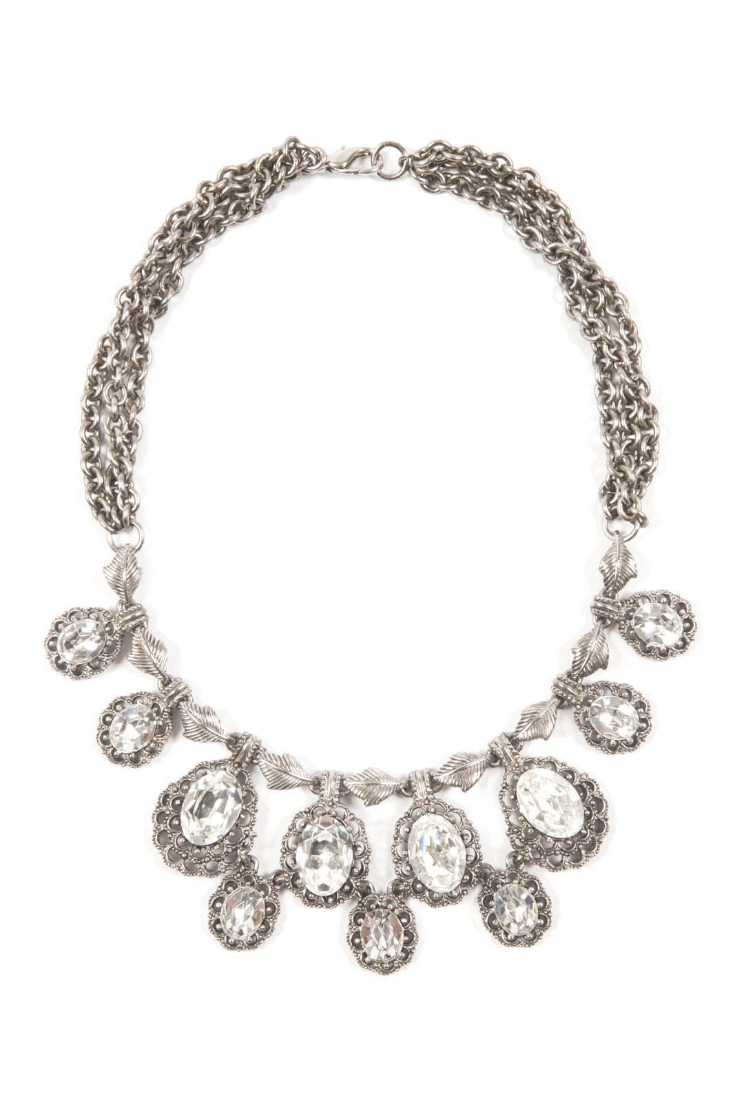 Antique Crystal Cherish Necklace by Ciner