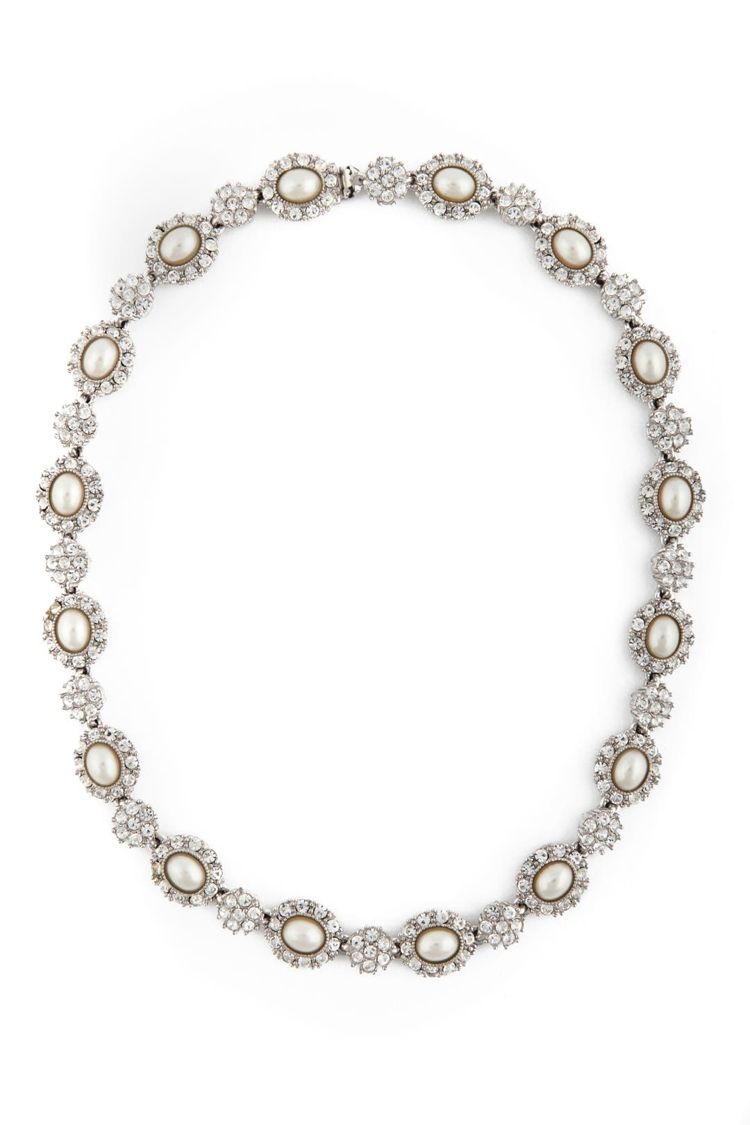 Antique Pearl Flower Necklace by Ciner