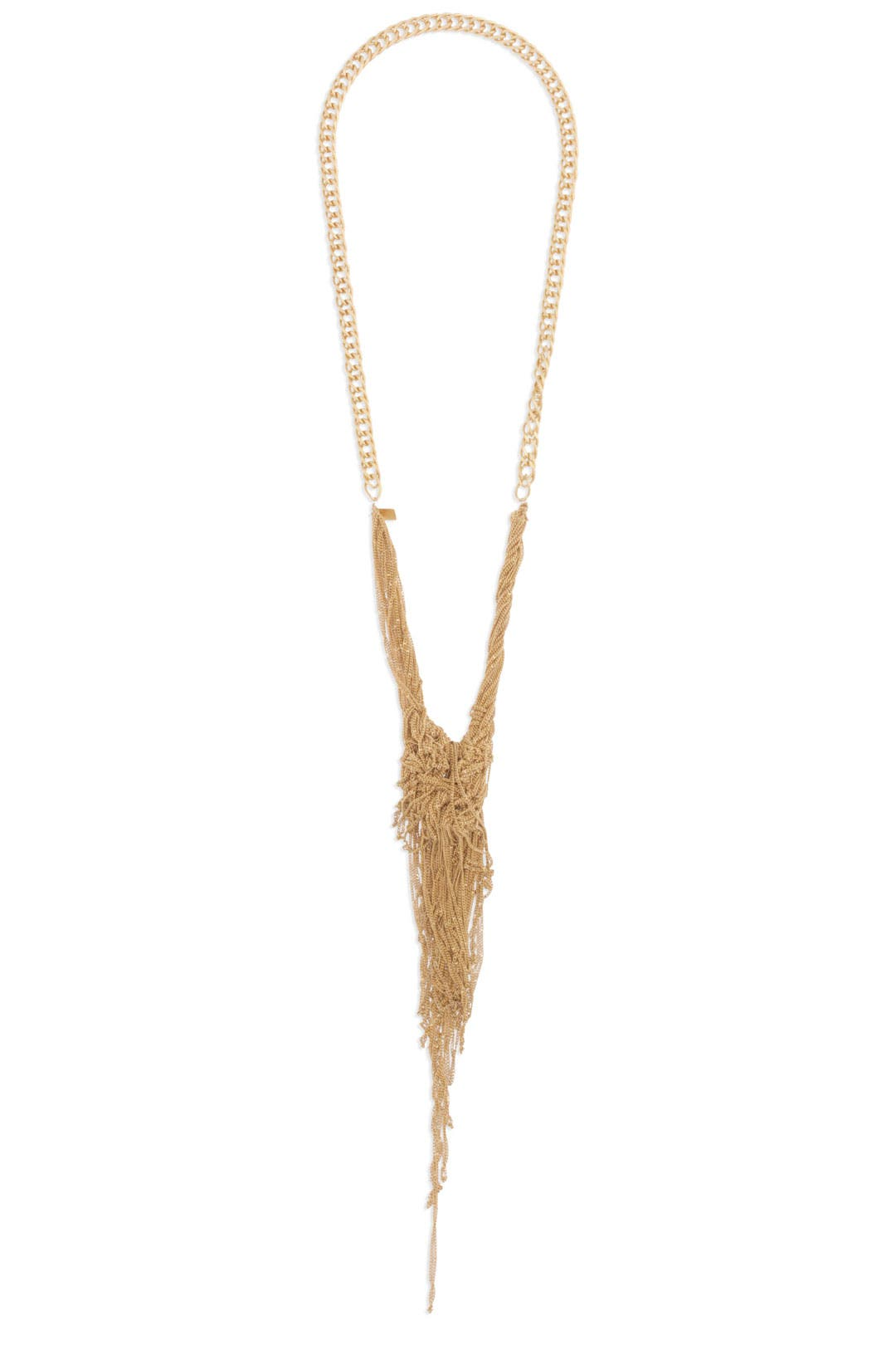 Gold Celia Knotted Chain Necklace by Dannijo