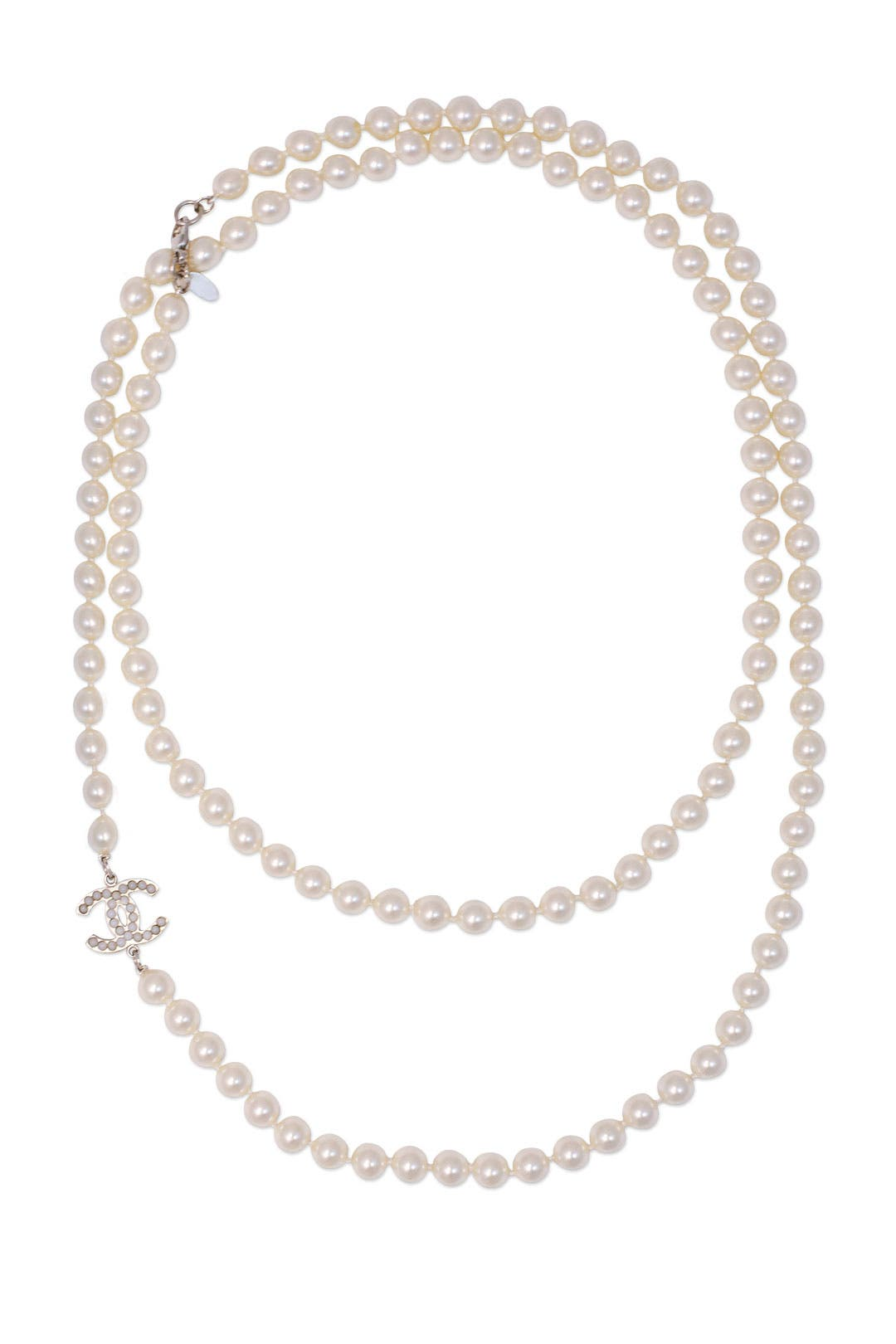 Vintage Chanel CC Pearl Necklace by Decades Vintage