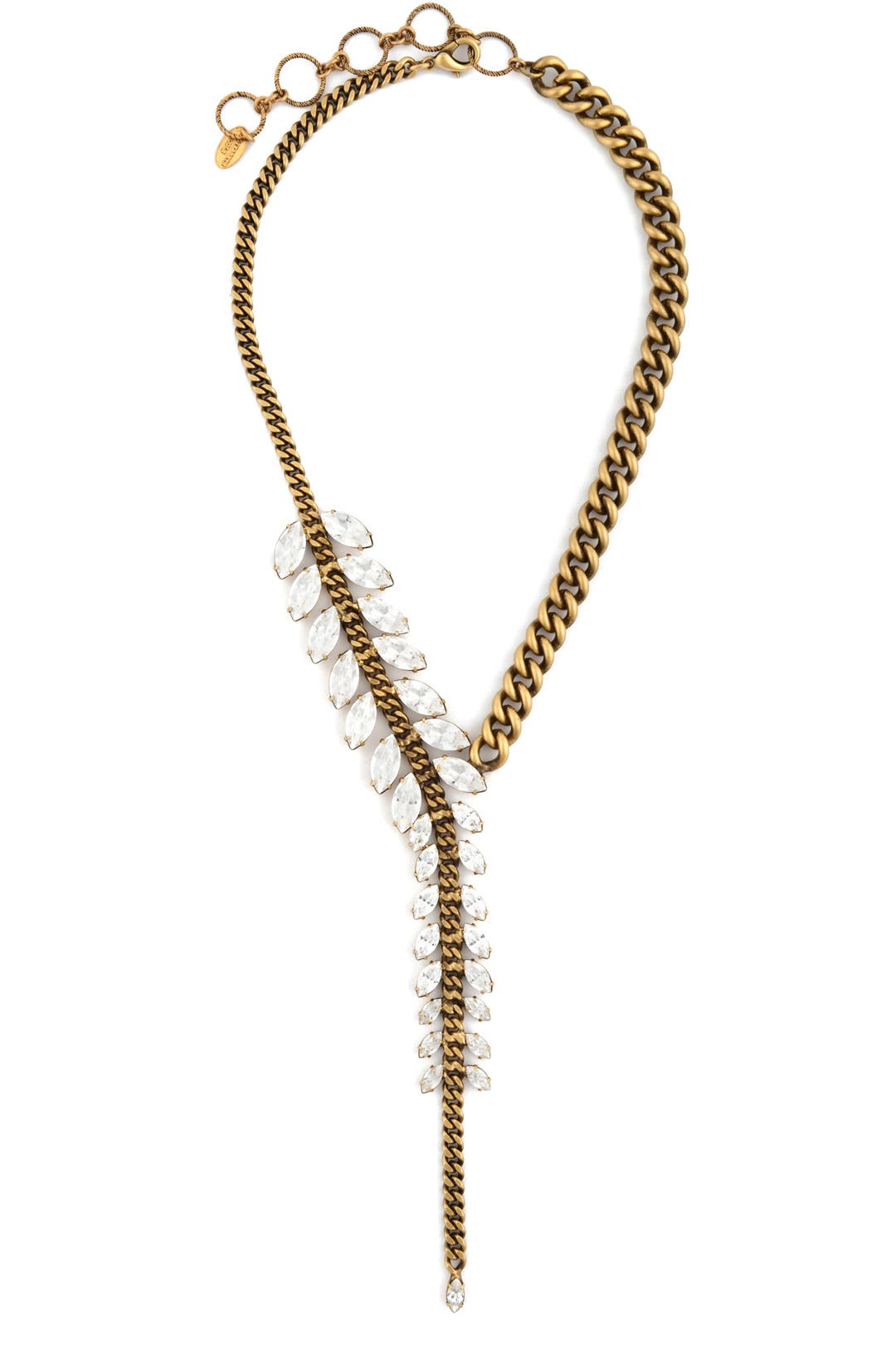 Crystal Navette Necklace by Elizabeth Cole