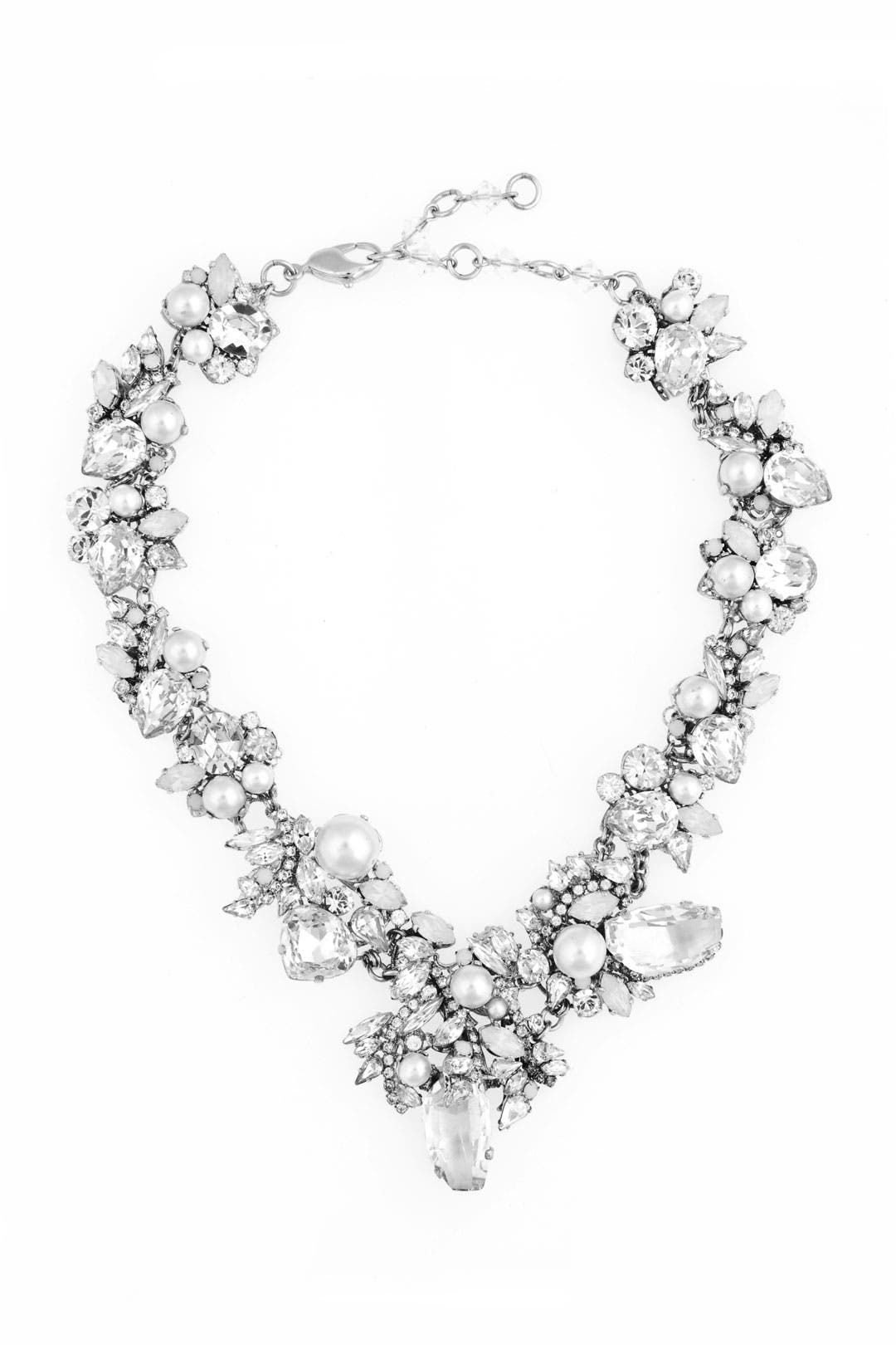 White Wedding Necklace by Erickson Beamon