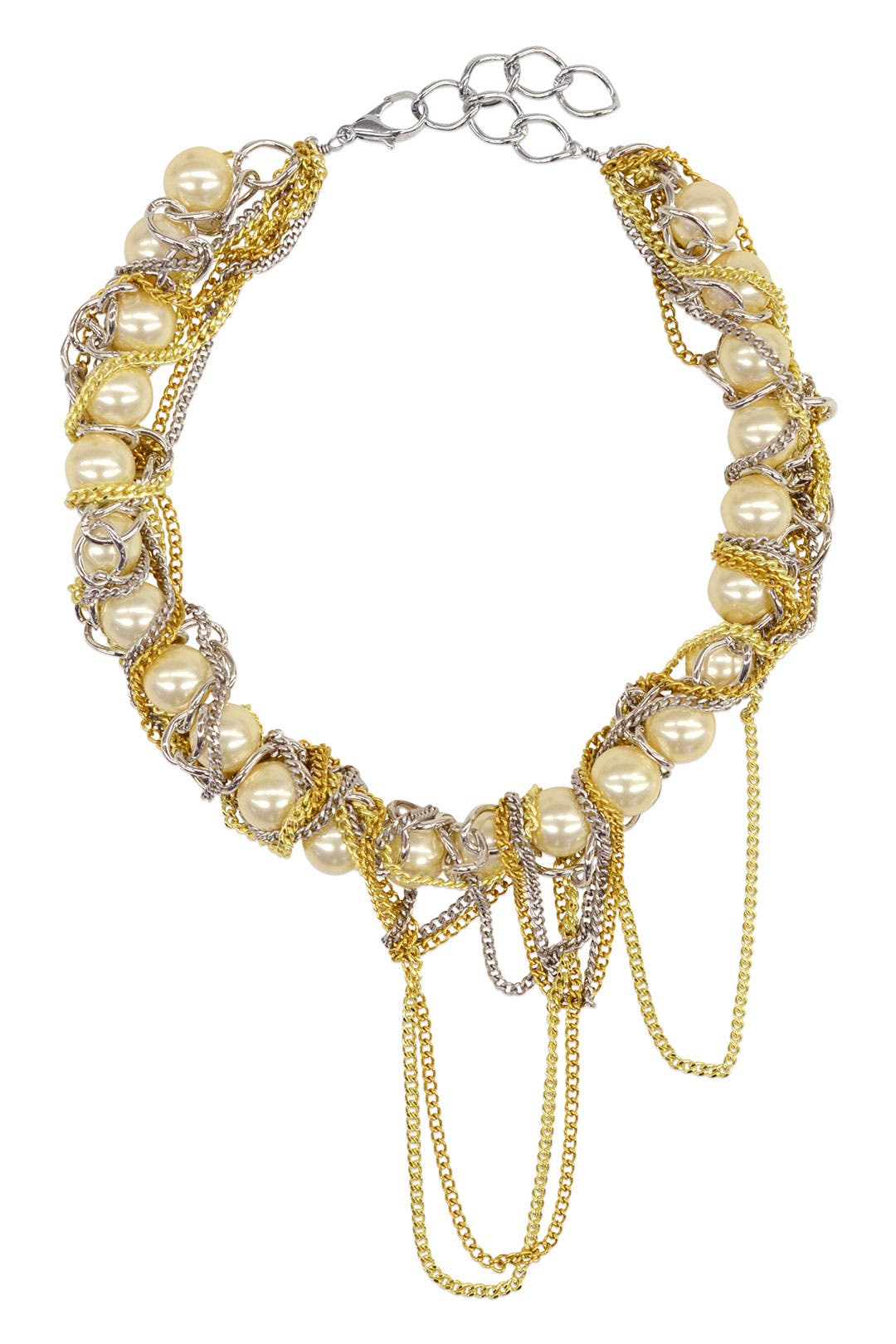White Carolyn Pearl Necklace by Gemma Redux