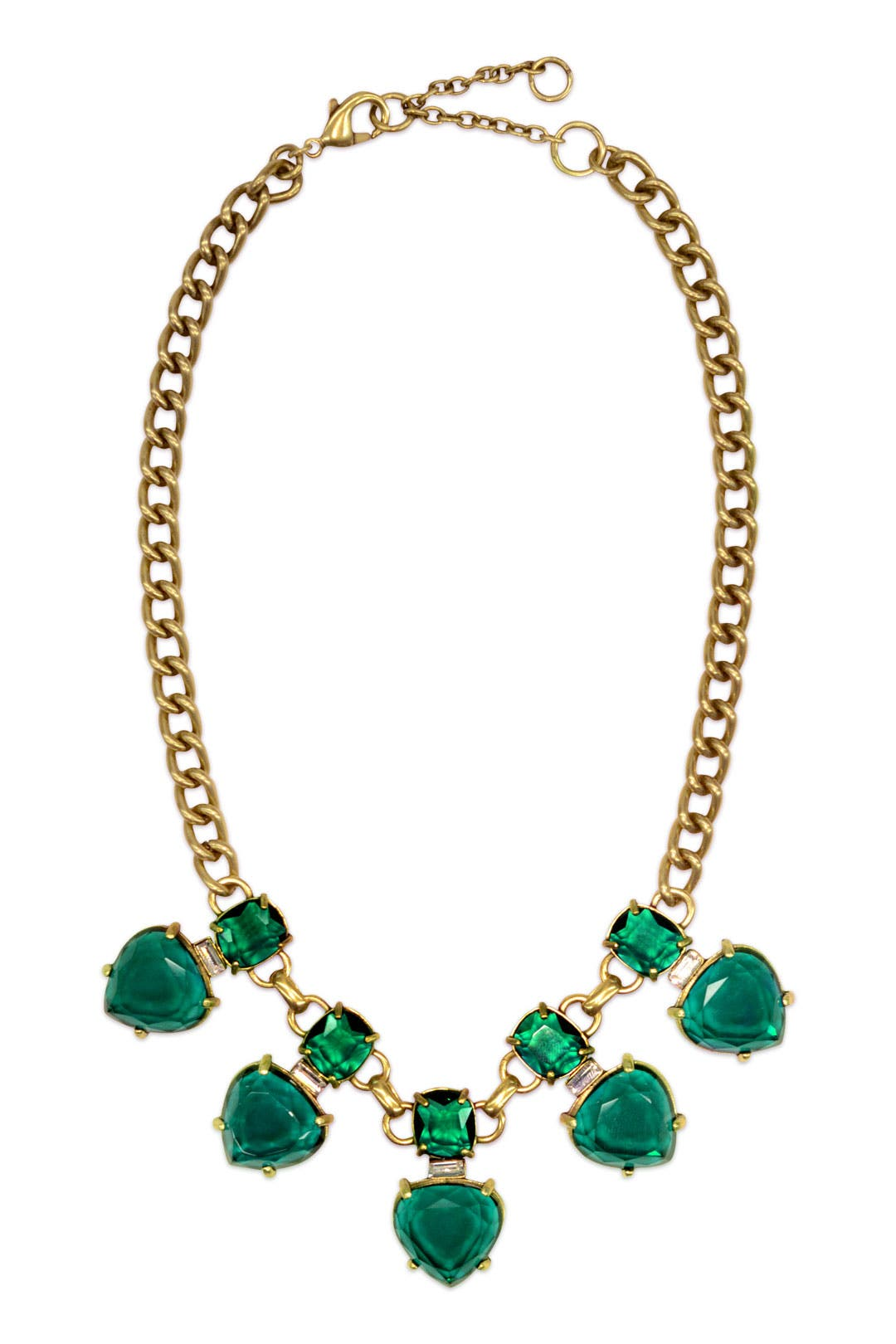 Emerald Hearts Necklace by Gerard Yosca
