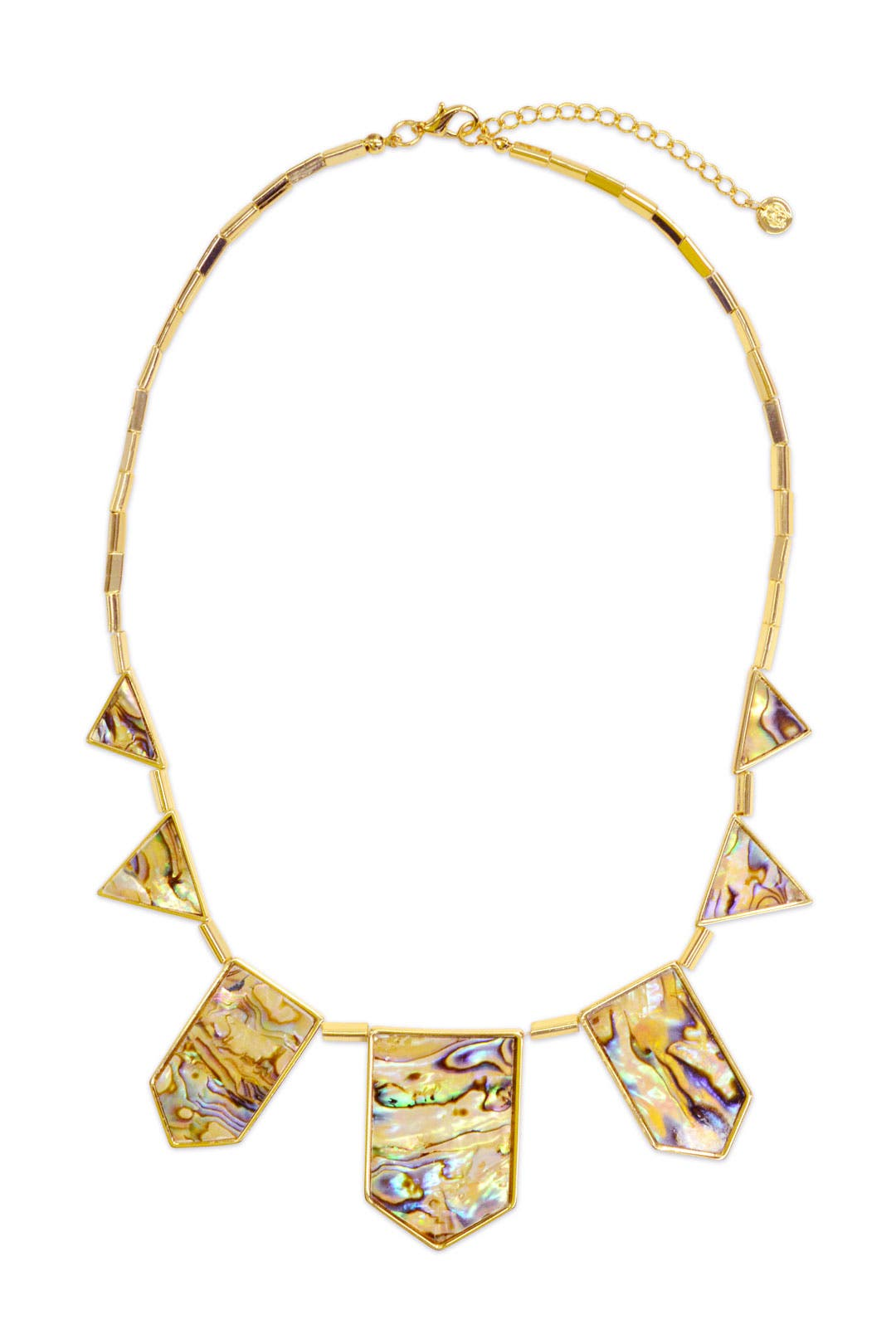 Abalone Geo Metric Necklace by House of Harlow 1960