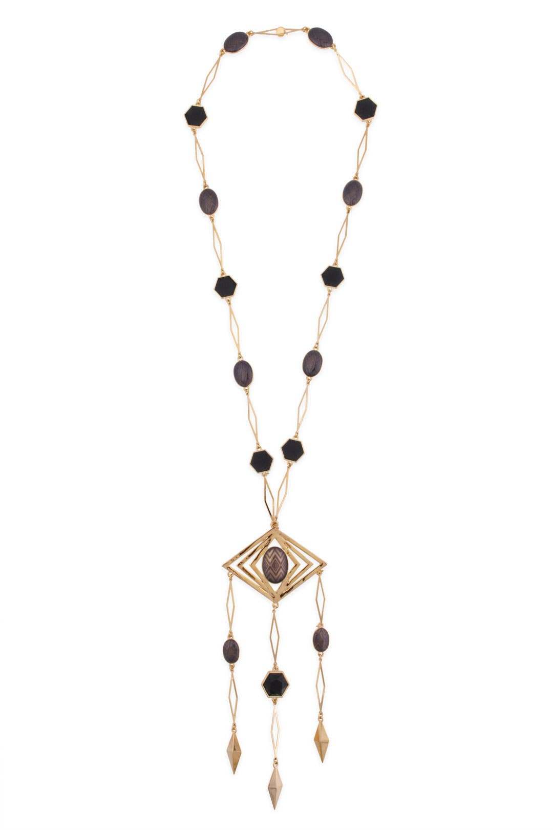 Aztec Diamond Necklace by House of Harlow 1960