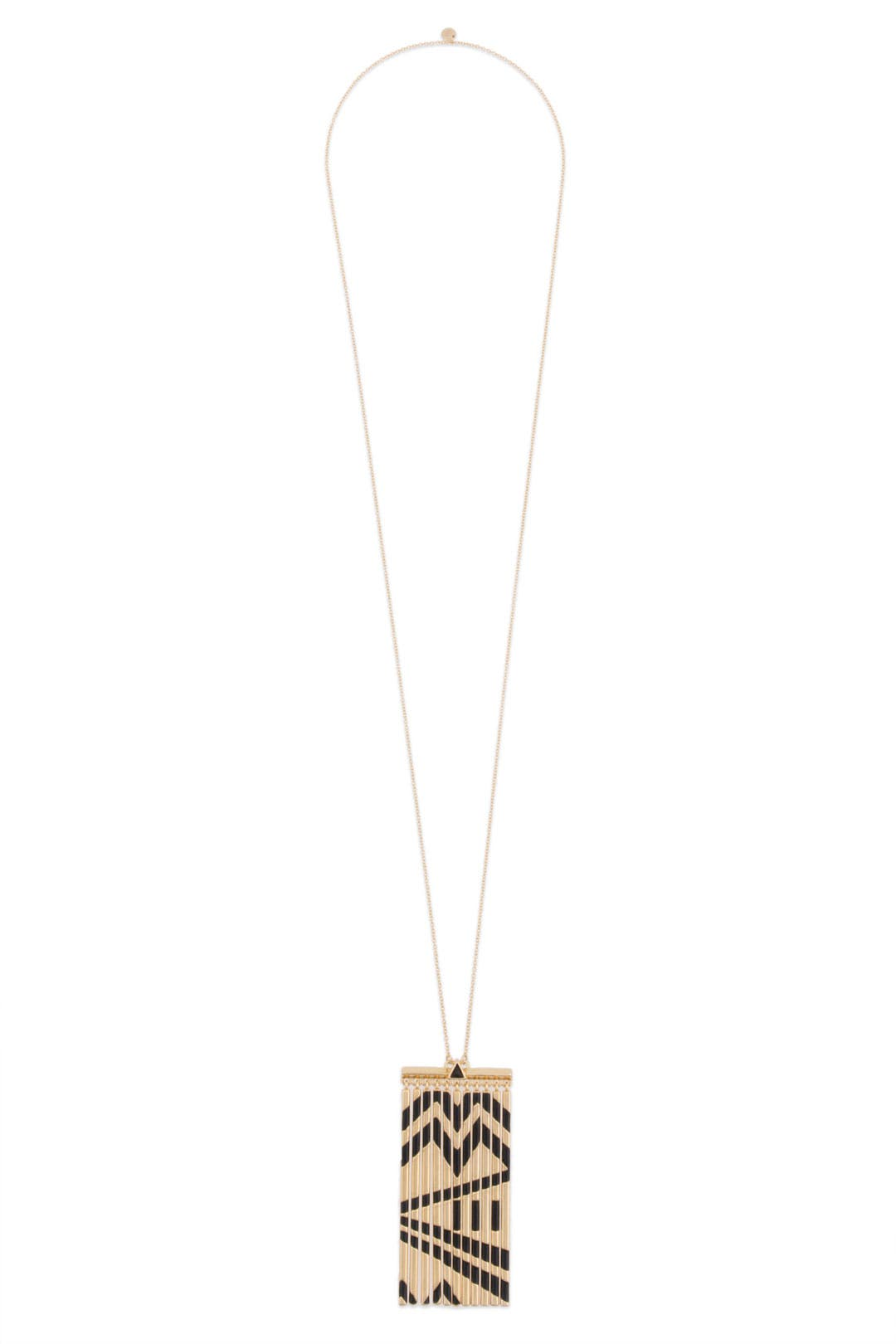 Gold Metal Fringe Necklace by House of Harlow 1960