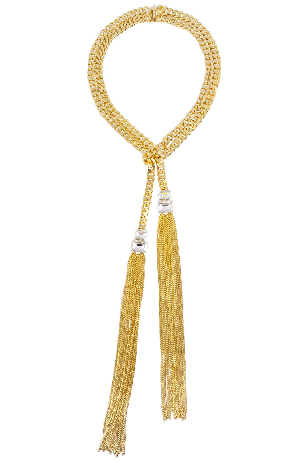 Gold Lariat Necklace by Janis Savitt