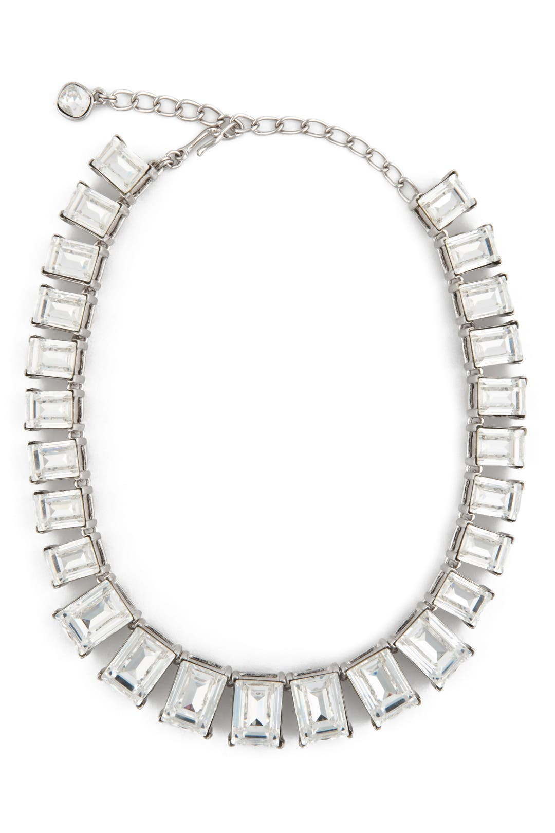 Rectangle Crystal Necklace by Kenneth Jay Lane
