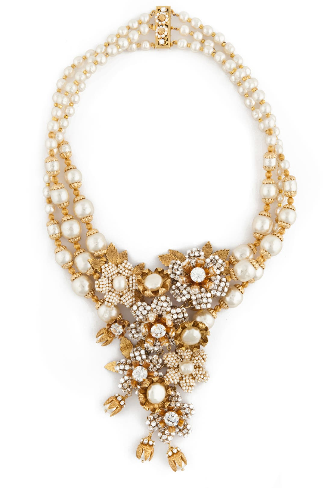 Calla Lily Cluster Necklace by Miriam Haskell