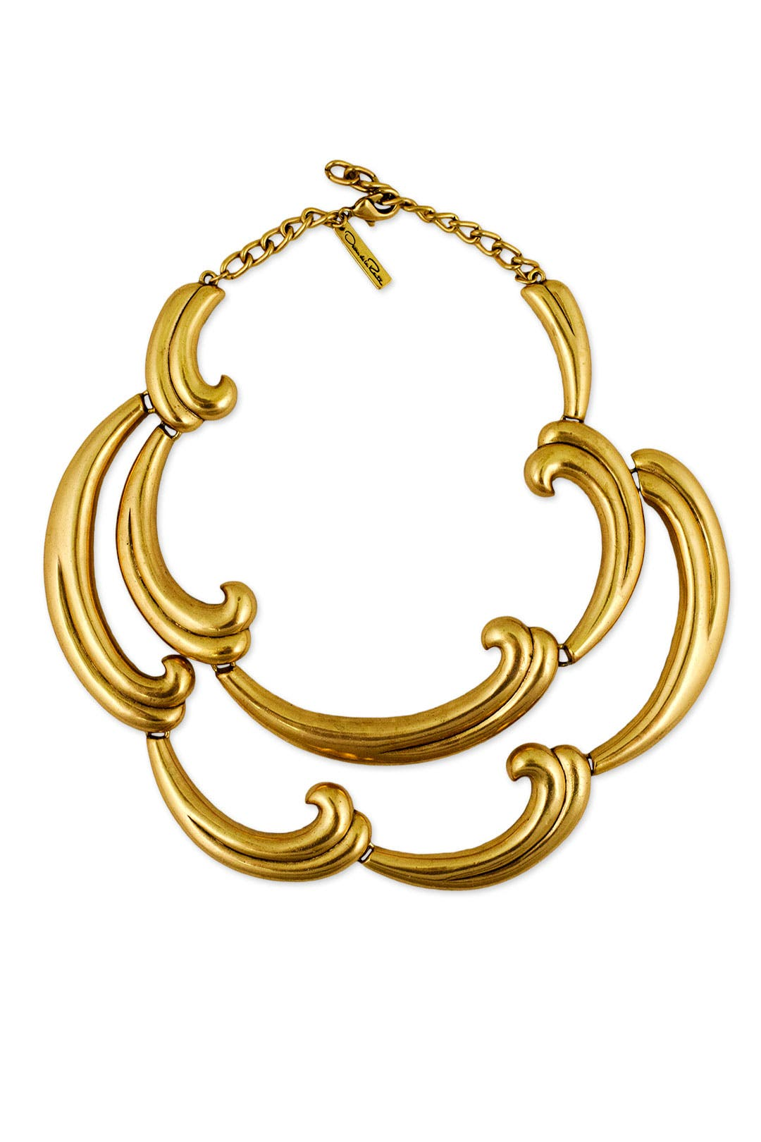 Bold Swirl Statement Necklace by Oscar de la Renta
