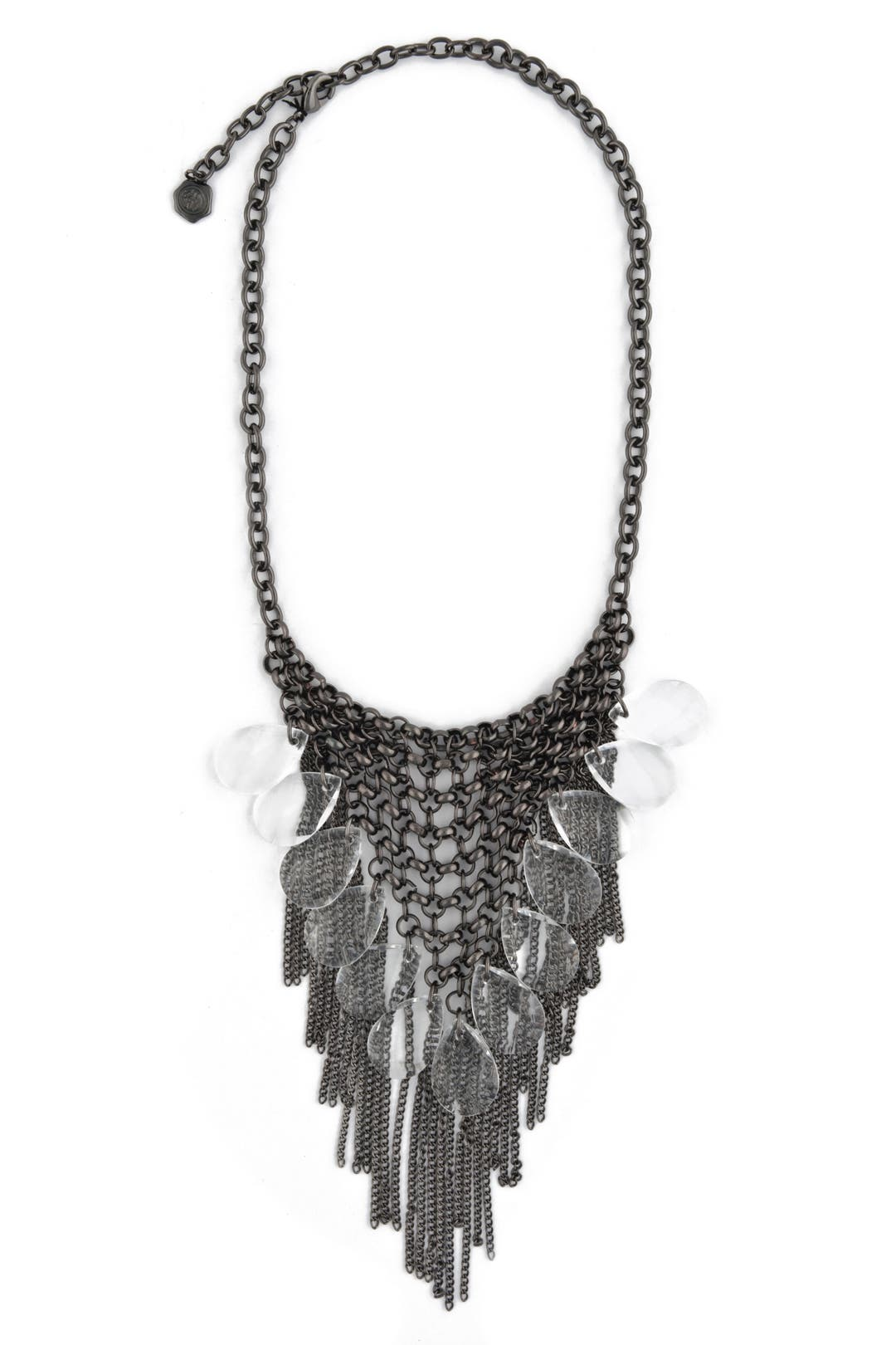 Crystal Fringe Bib Necklace by RJ Graziano