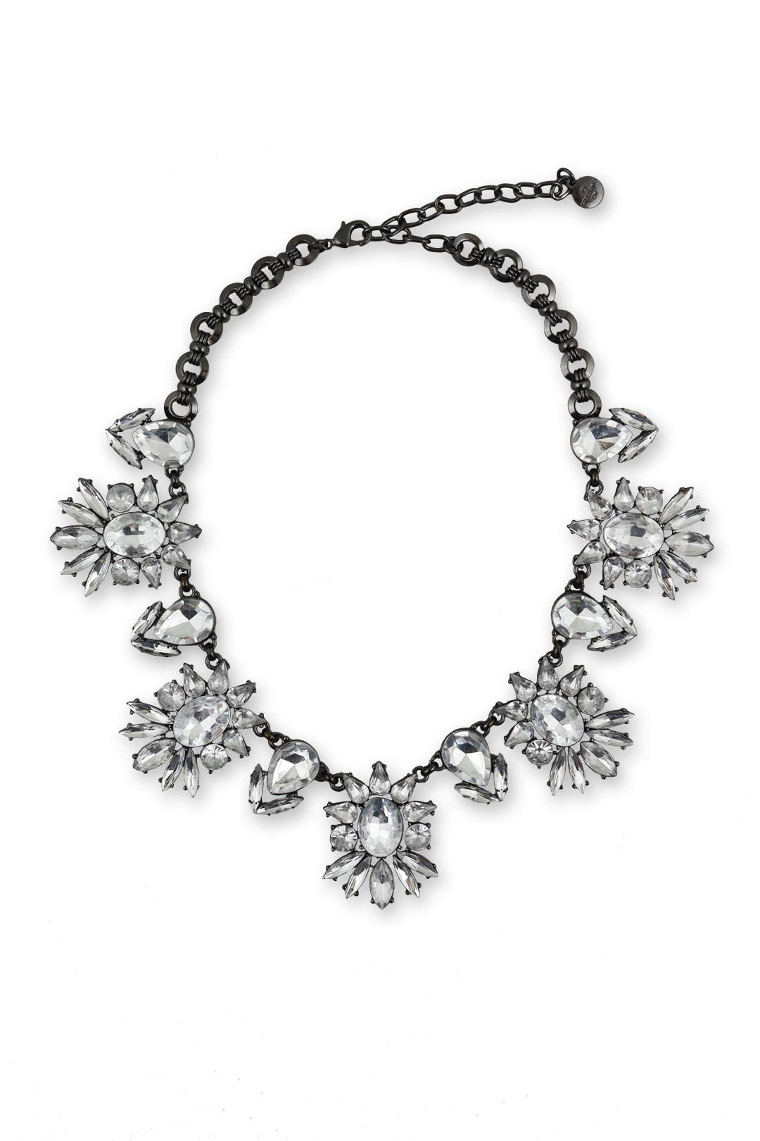 Gunmetal and Roses Necklace by RJ Graziano