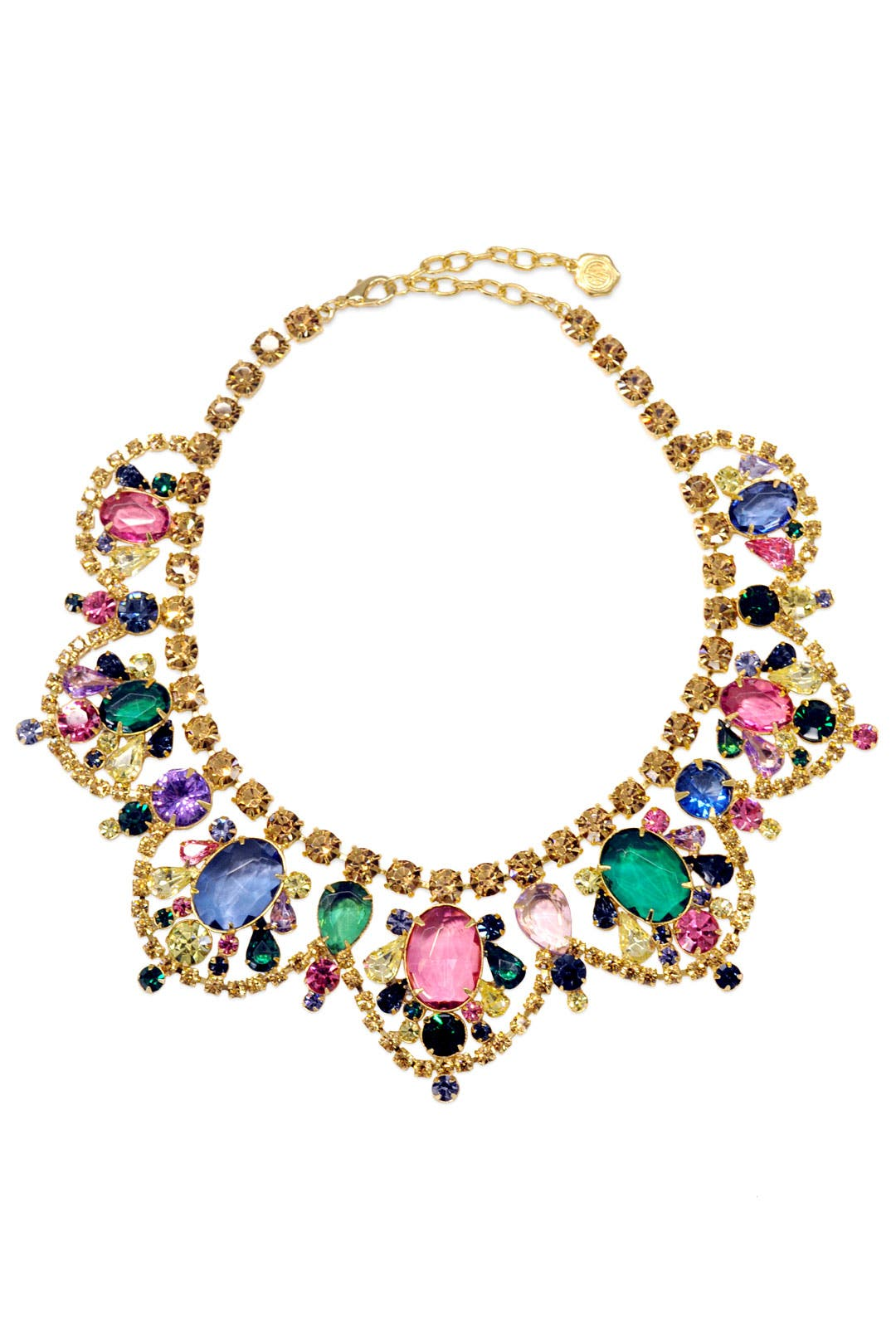 Watercolor Stone Statement Necklace by RJ Graziano