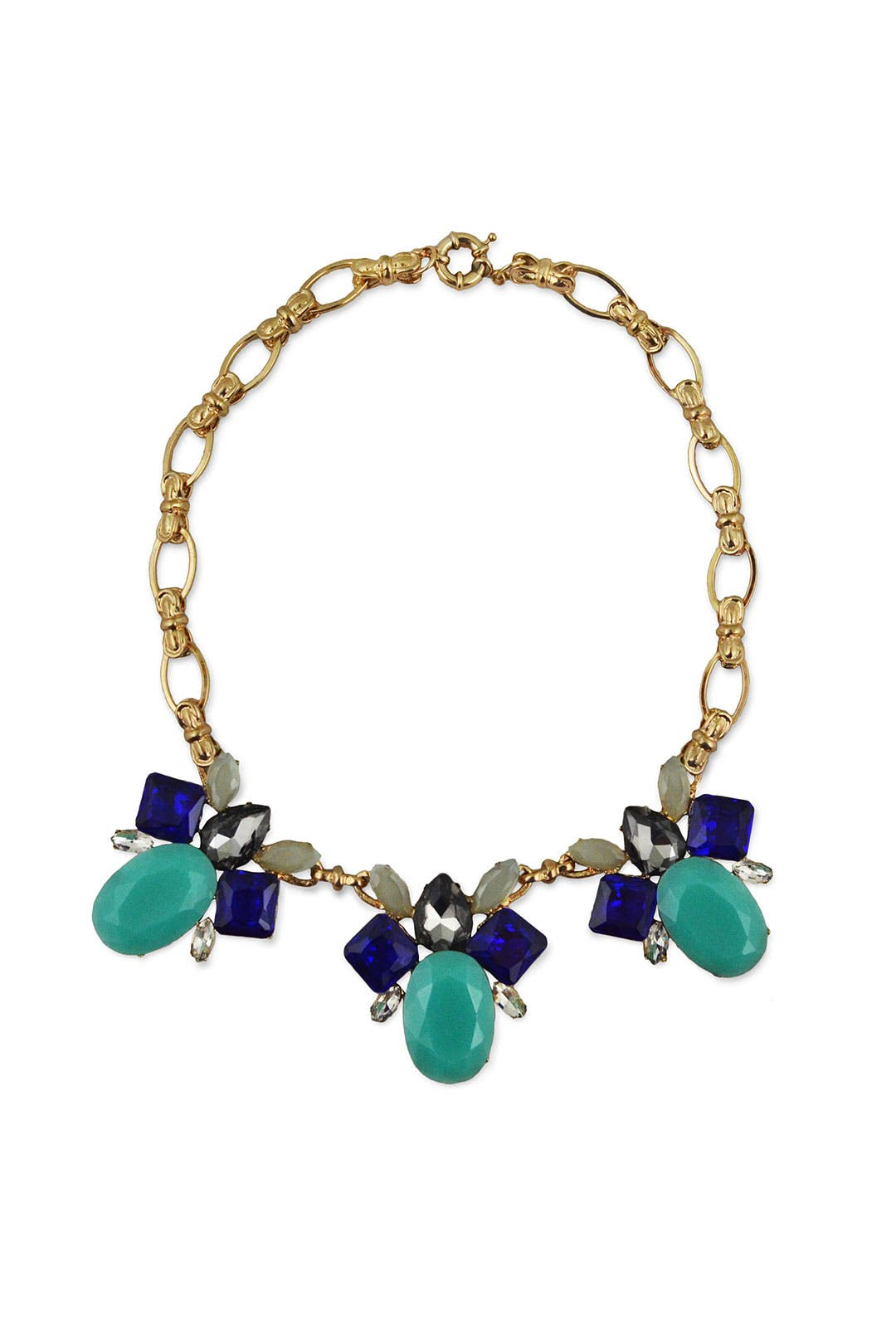 Budding Blue Statement Necklace by Slate & Willow Accessories