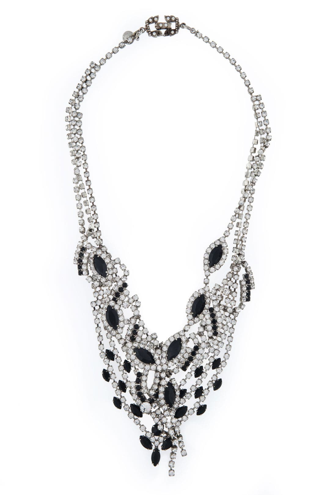 Black and Crystal Mystery Necklace by Tom Binns