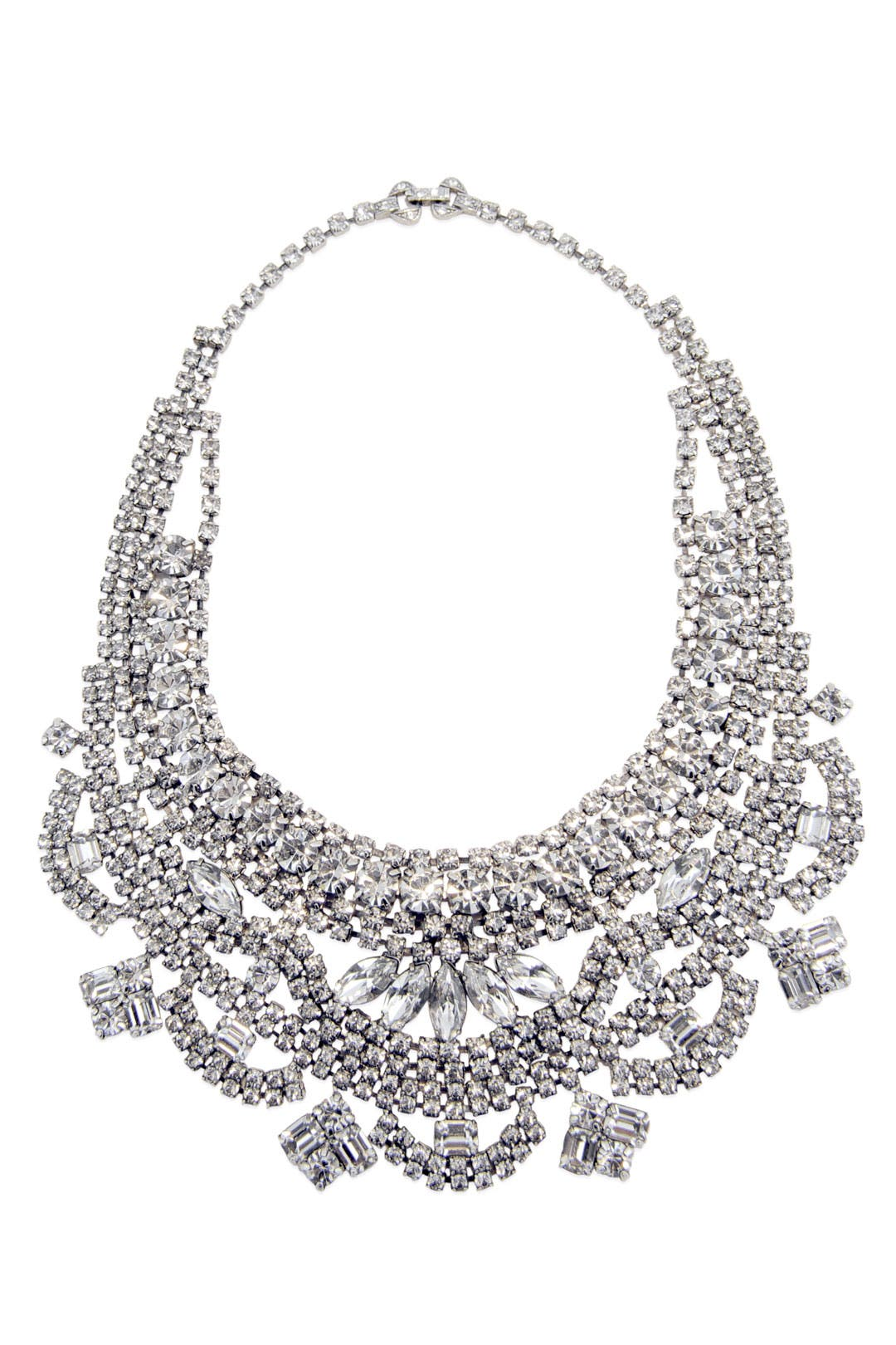 Dumont Crystal Bib Necklace by Tom Binns