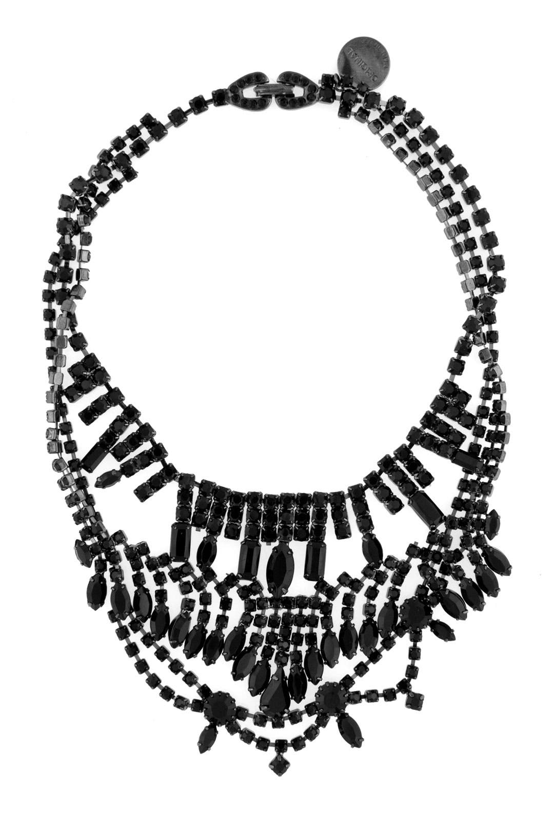 Tangled Jet Crystal Necklace by Tom Binns