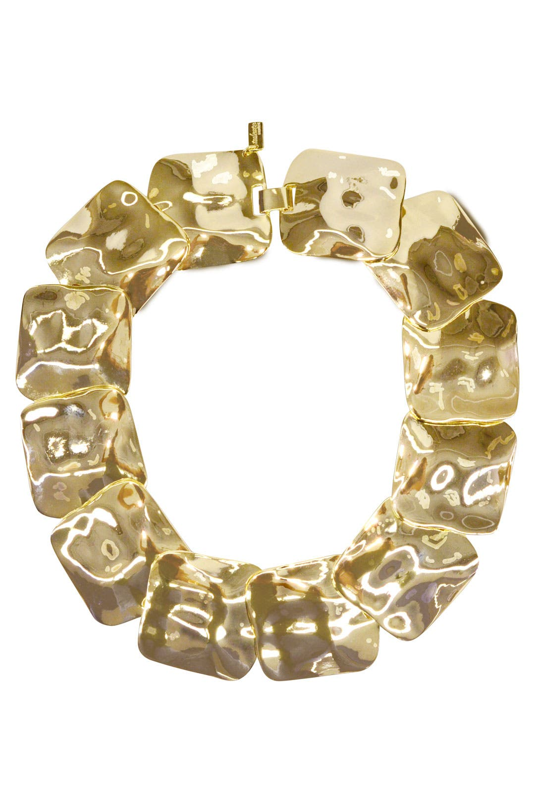 Hammered Squares Necklace by Tuleste Market