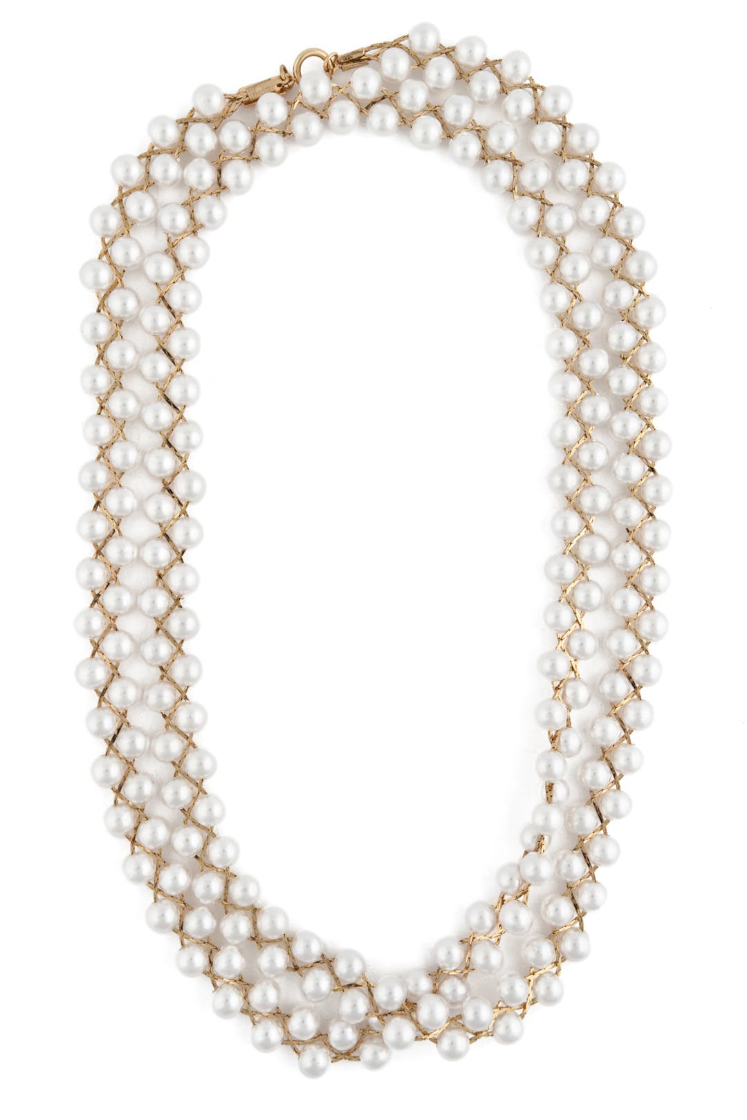 Braided Chain and Pearl Necklace by Tuleste Market
