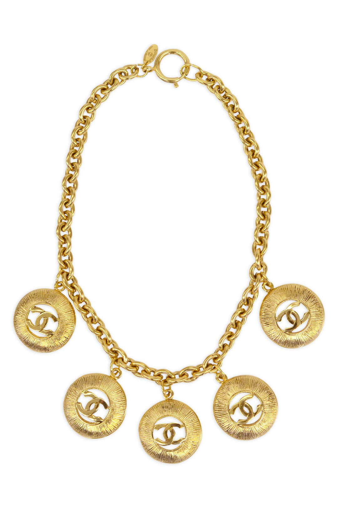 Vintage Chanel Circle Link Necklace by WGACA Vintage