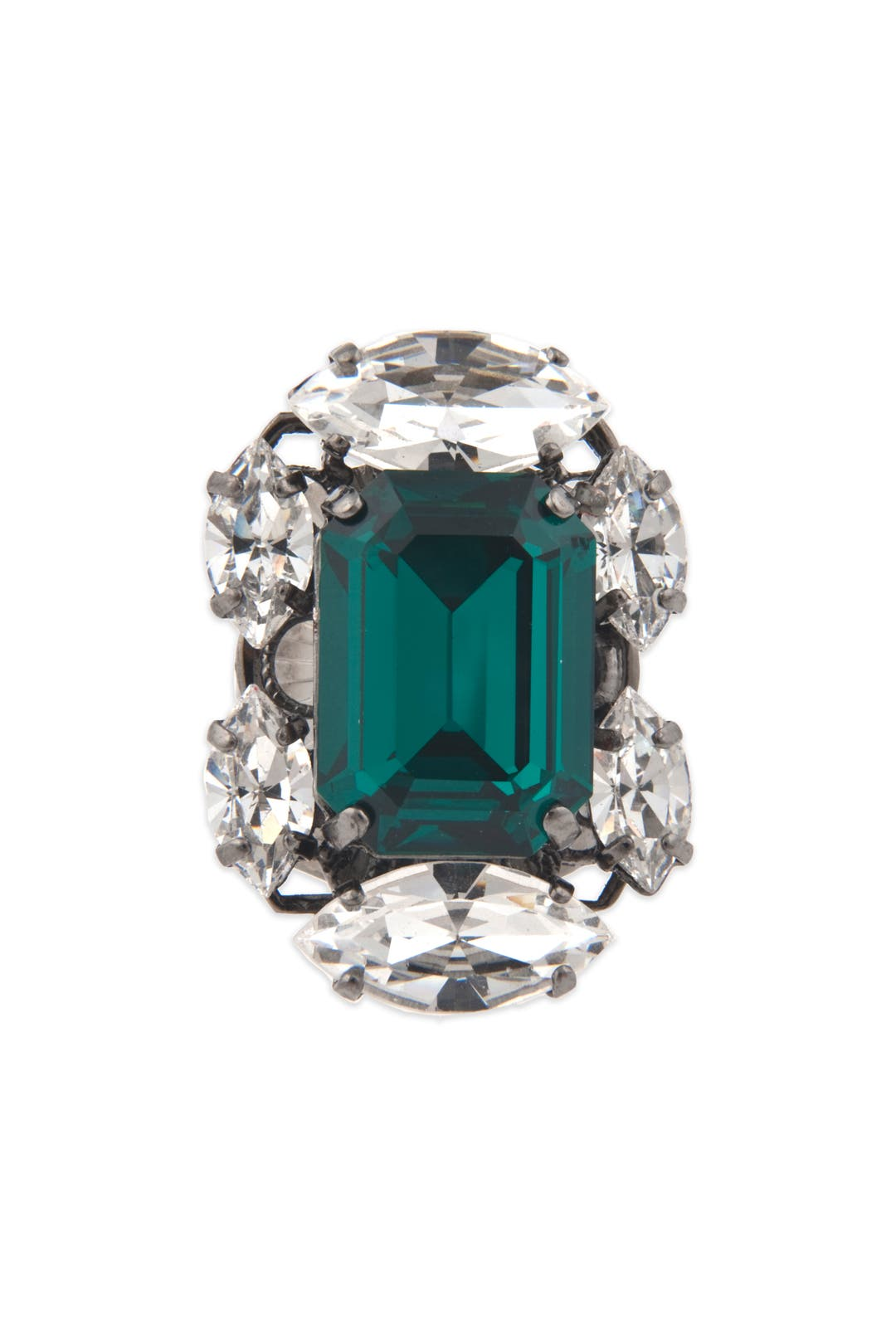 Entrapping Emerald Crystal Ring by Anton Heunis