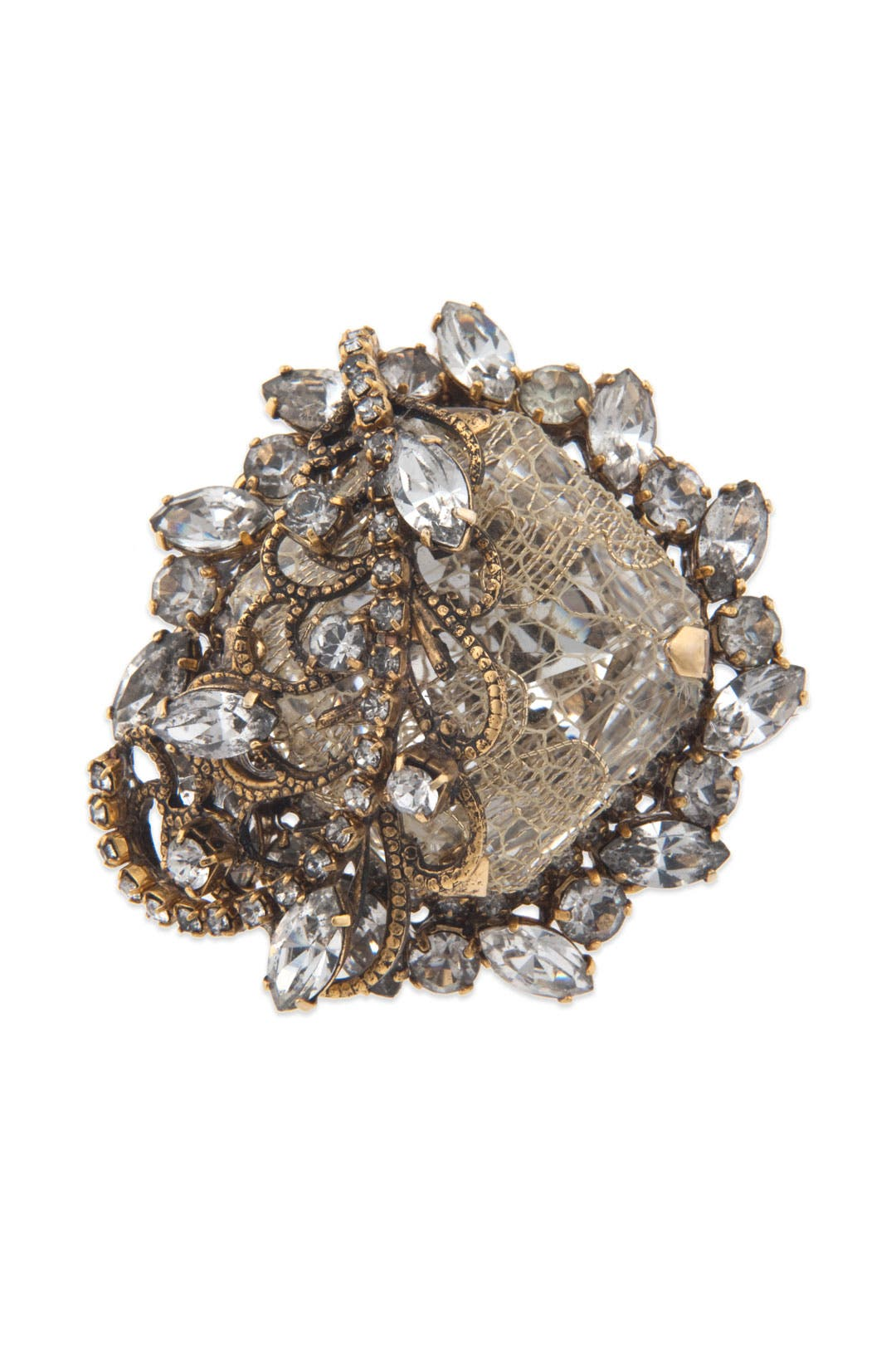 Gold Digger Ring by Erickson Beamon