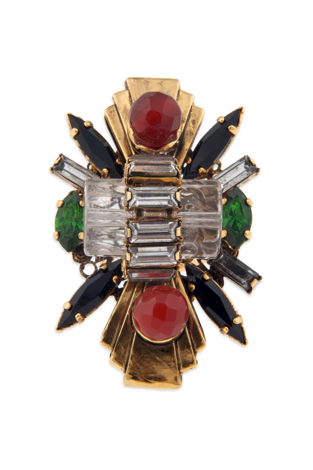 Transformer Crystal Burst Ring by Erickson Beamon