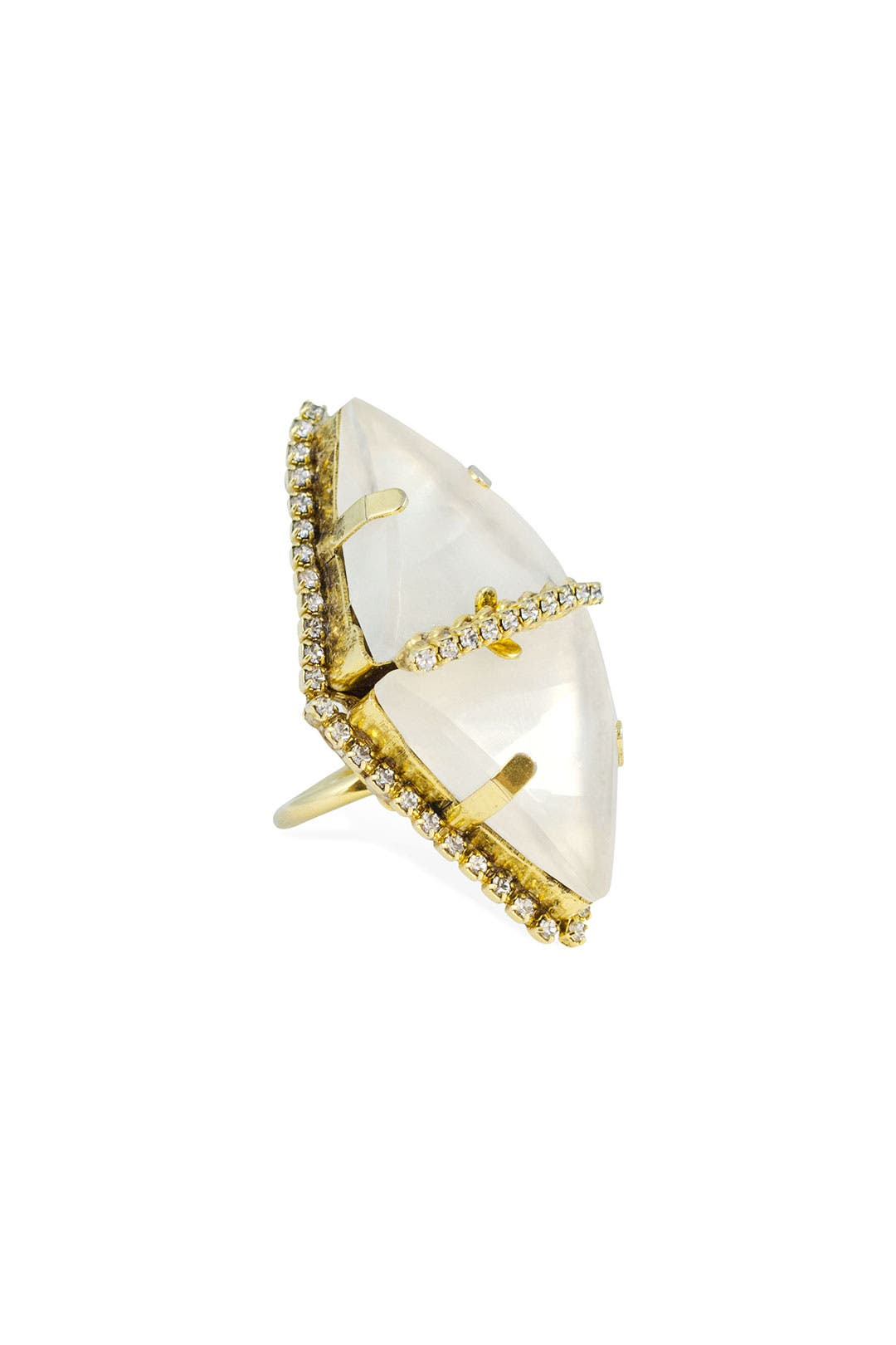 Whiter Shade of Pale Ring by Erickson Beamon