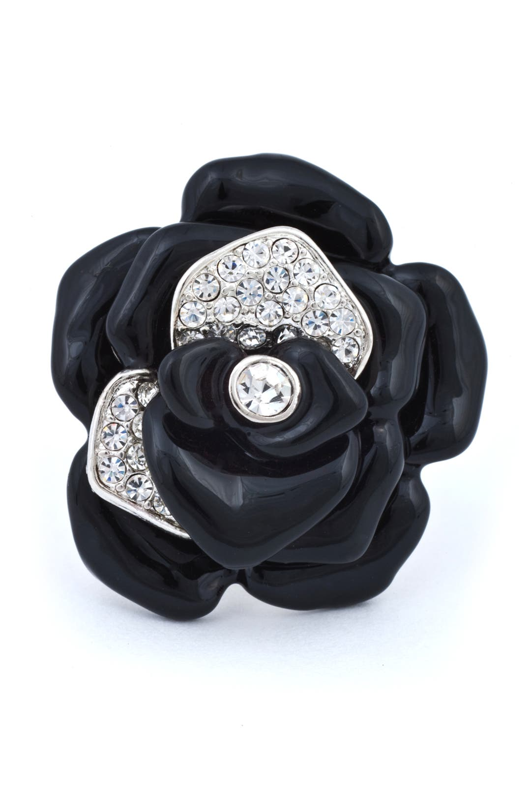 Noir Flower Ring by Kenneth Jay Lane