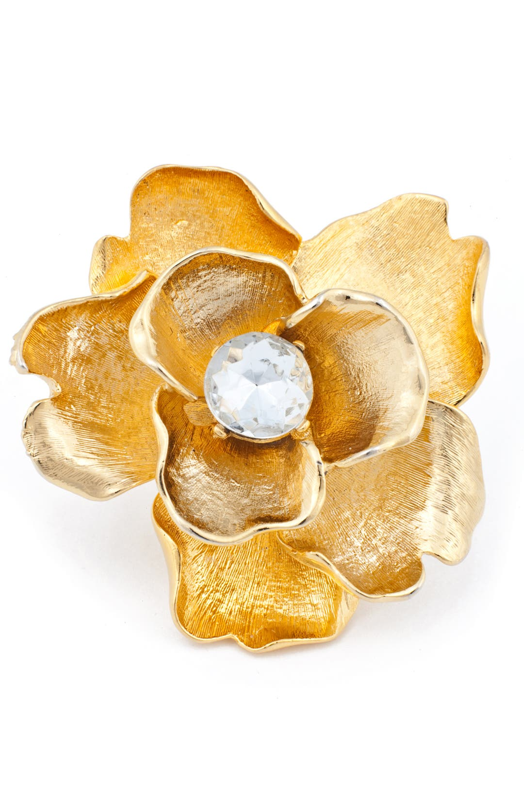 Oversize Flower Ring by Kenneth Jay Lane