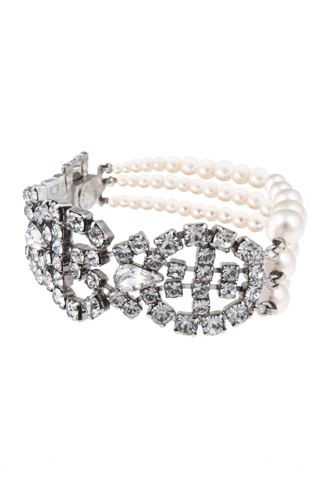 Pearl and Crystal Combo Bracelet by Tom Binns