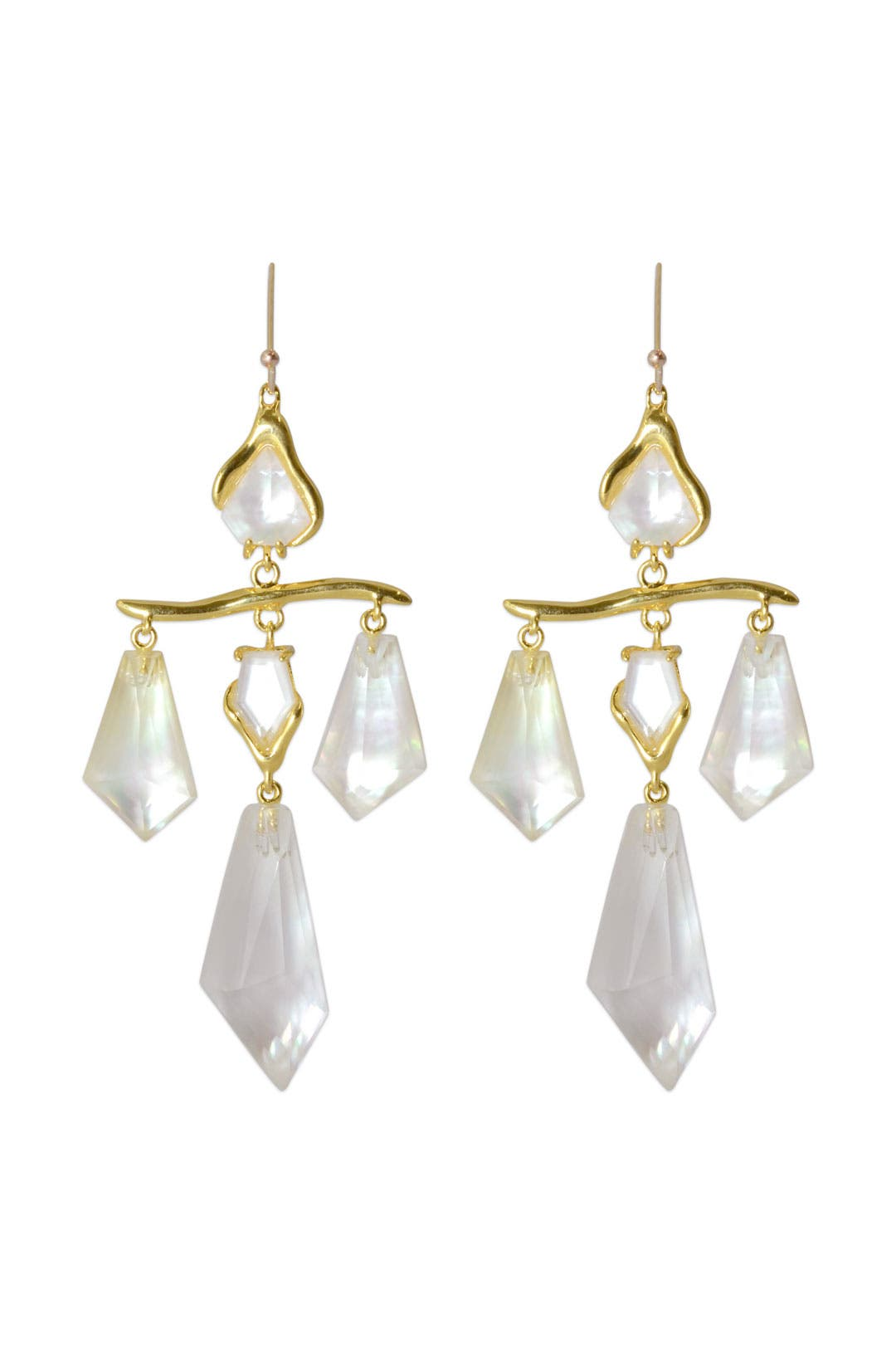 Quartz Scale Chandelier Earrings by Alexis Bittar