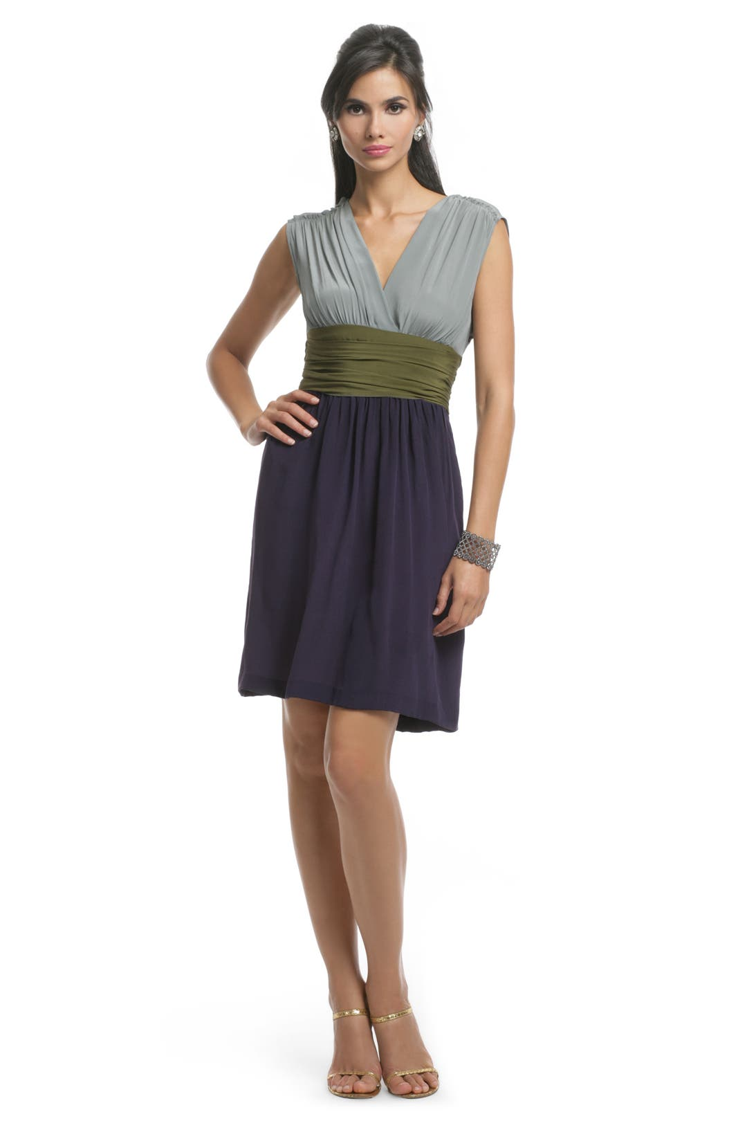Colorblock Sash Dress by Philosophy Di Alberta Ferretti