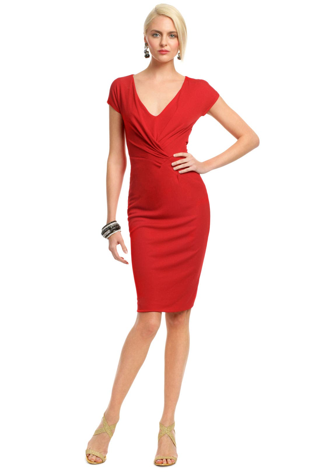 Red Rimini Dress by Alberta Ferretti