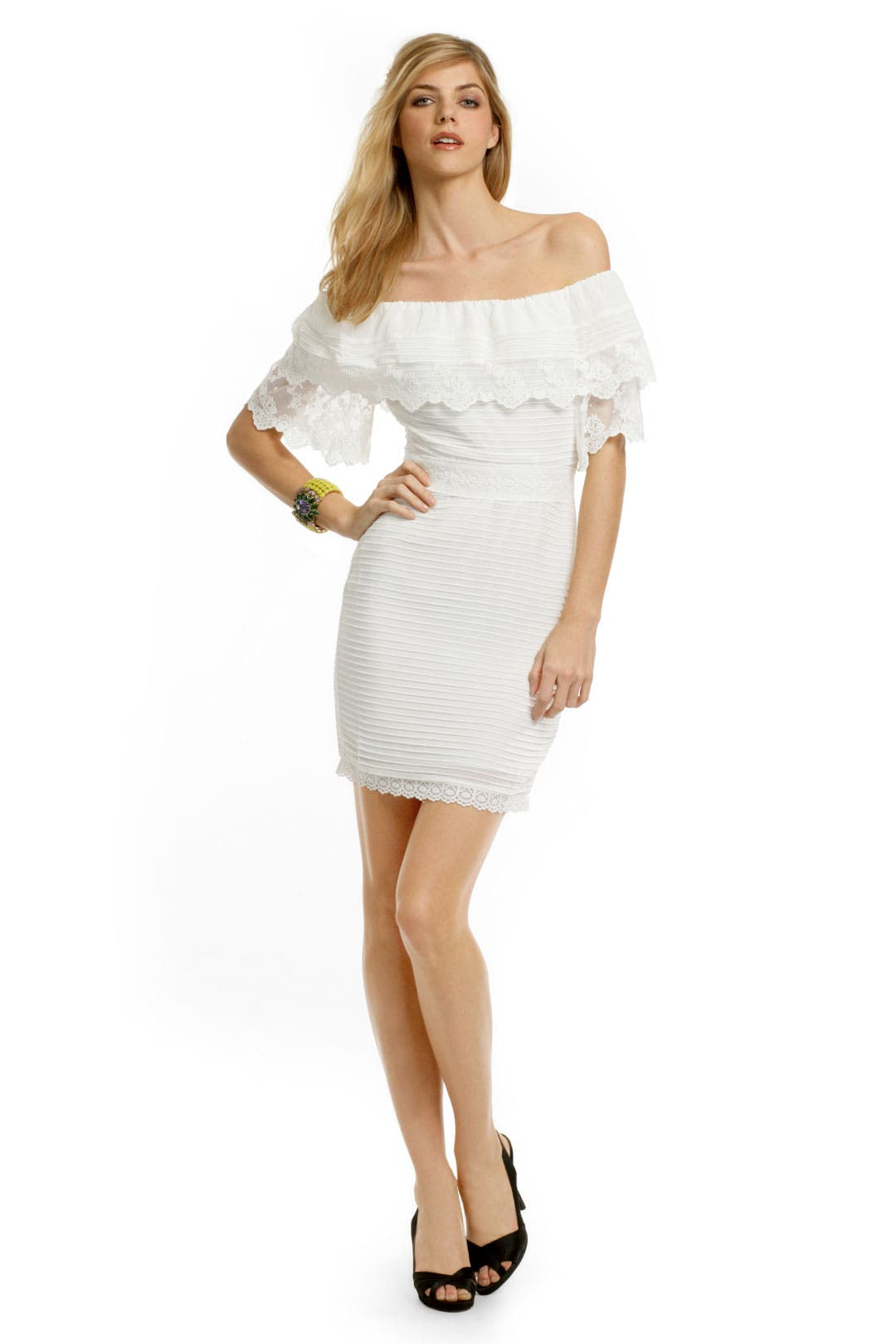 White Lace Whispers Dress by Alice by Temperley
