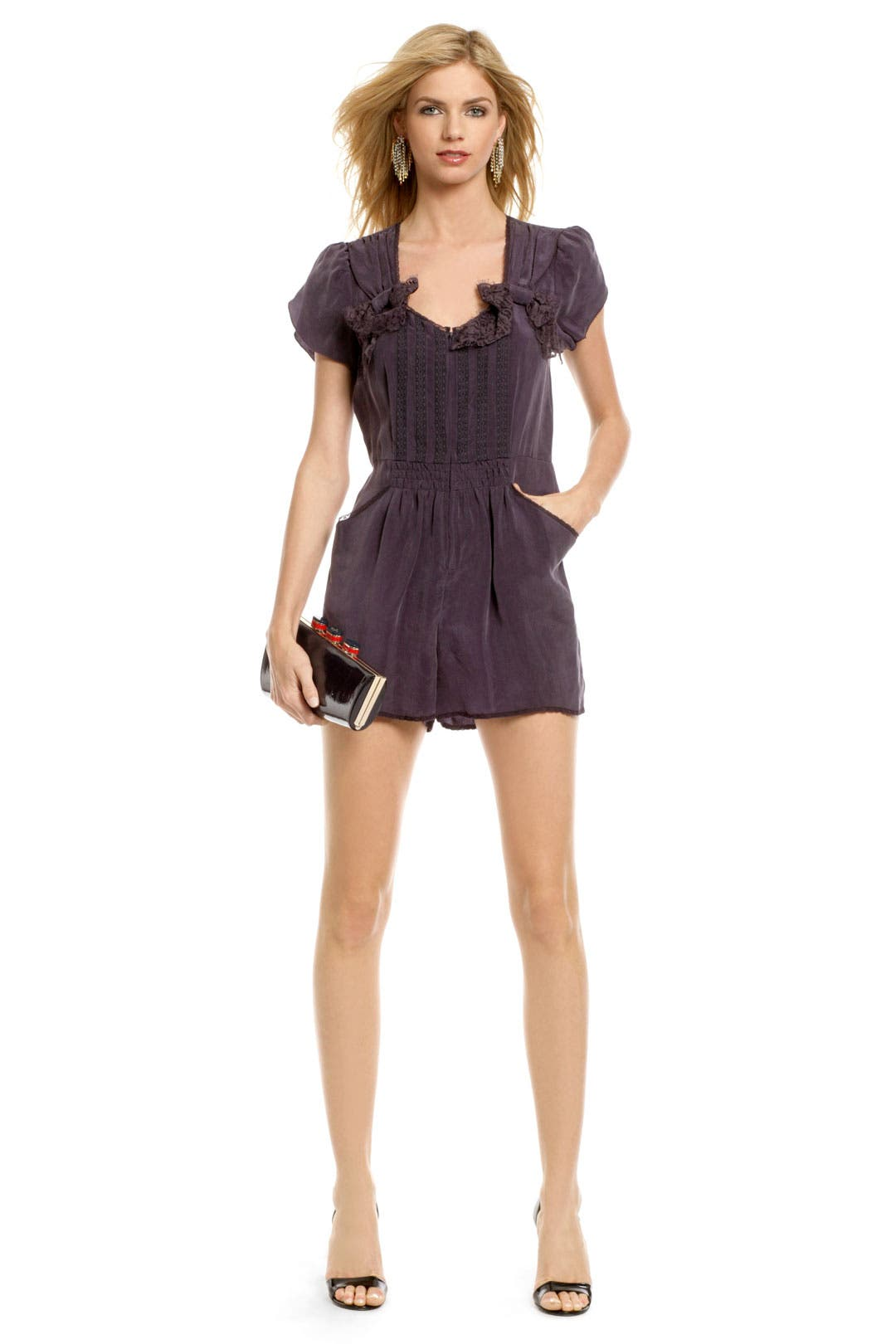 Lexington Sweetheart Romper by Anna Sui
