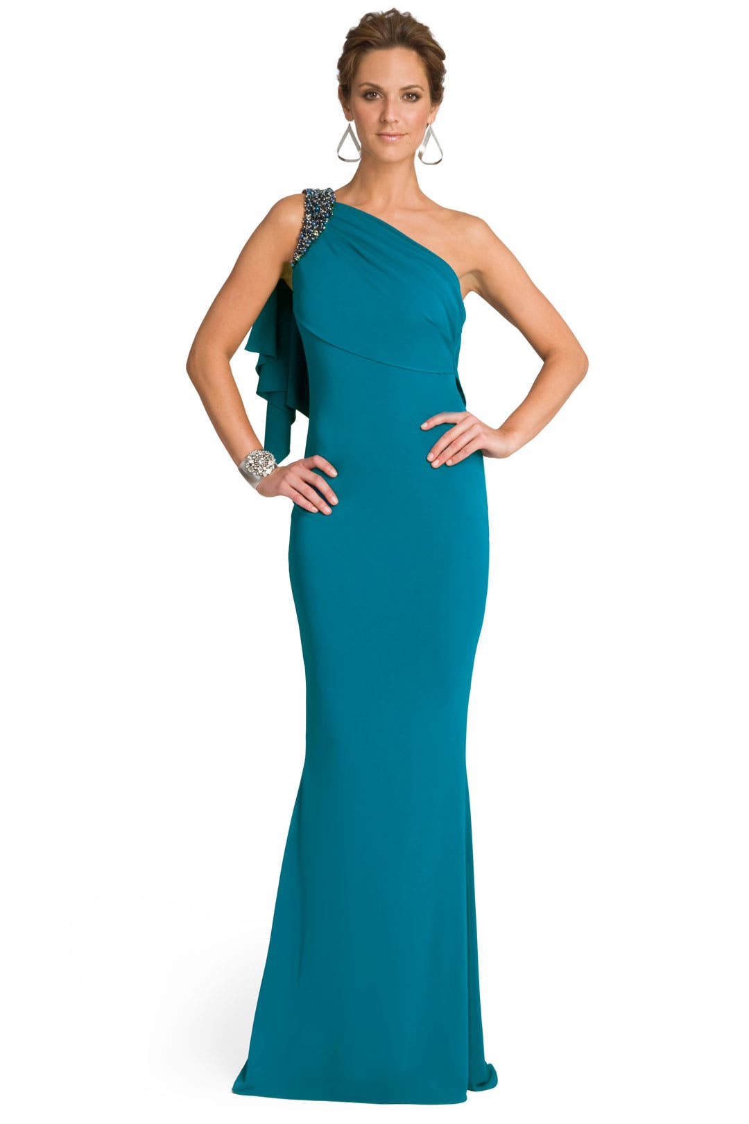 Alluring Aqua Gown by Badgley Mischka