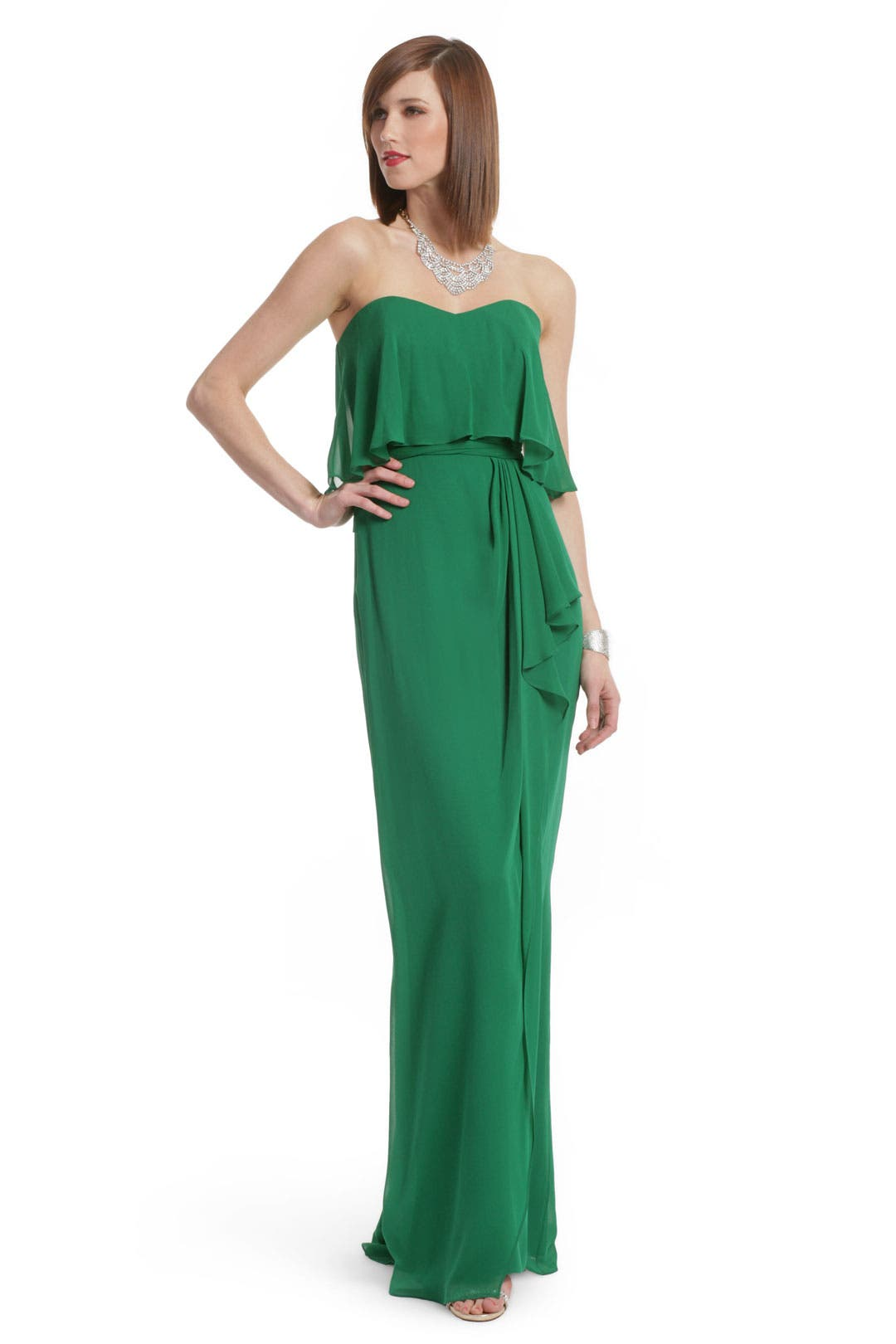 Green with Envy Gown by Badgley Mischka