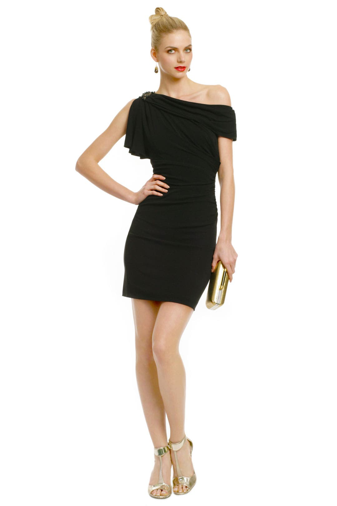 Sliding Shoulder Dress by Badgley Mischka